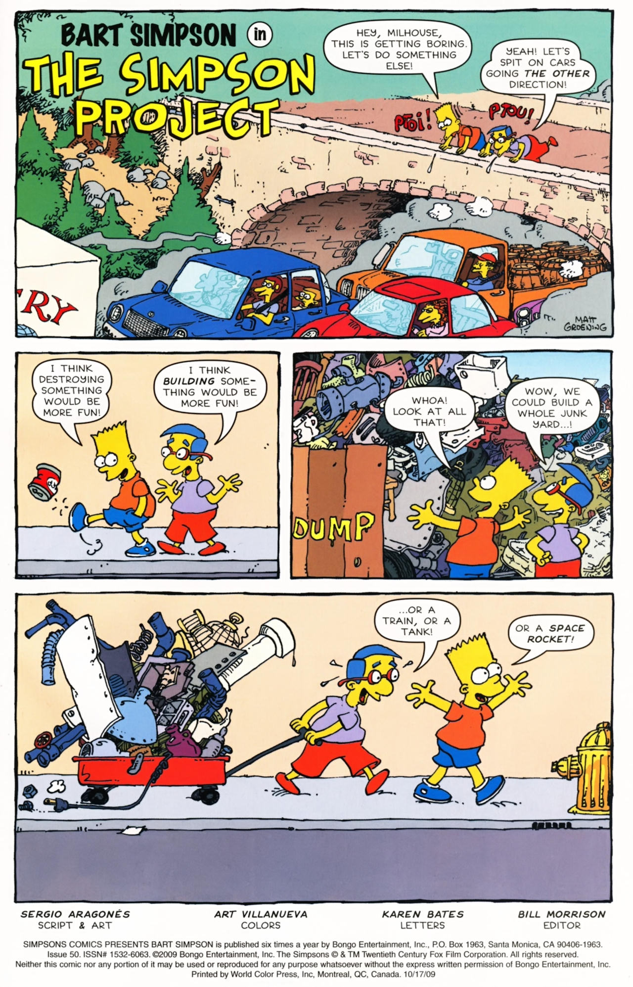Read online Simpsons Comics Presents Bart Simpson comic -  Issue #50 - 2
