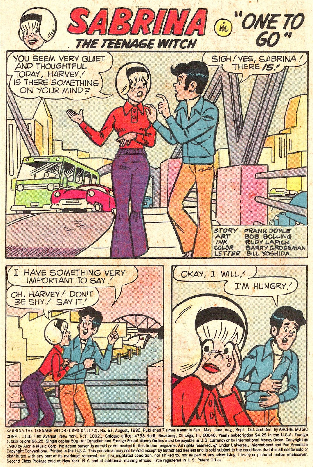 Sabrina The Teenage Witch (1971) Issue #61 #61 - English 3
