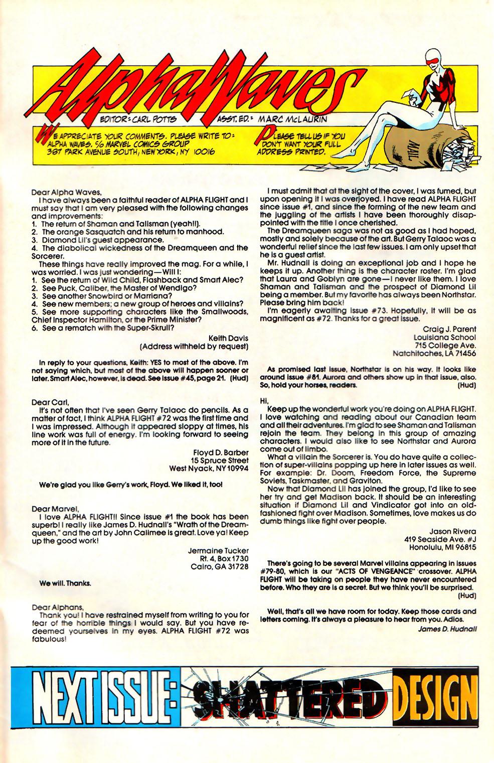 Read online Alpha Flight (1983) comic -  Issue #76 - 26
