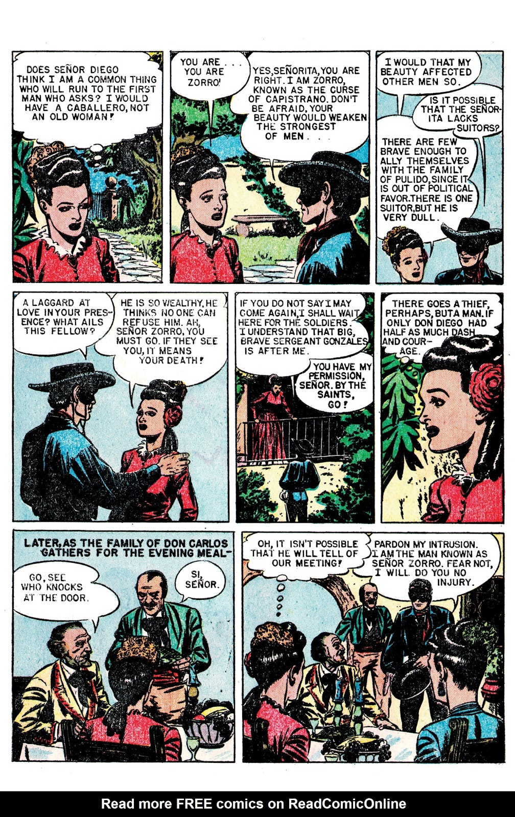 Read online AM Archives: The Mark of Zorro #1 1949 Dell Edition comic -  Issue #1 1949 Dell Edition Full - 5