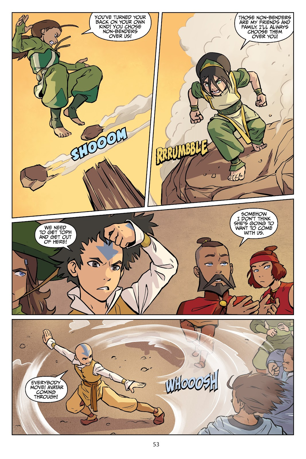 Read online Nickelodeon Avatar: The Last Airbender - Imbalance comic -  Issue # TPB 2 - 54