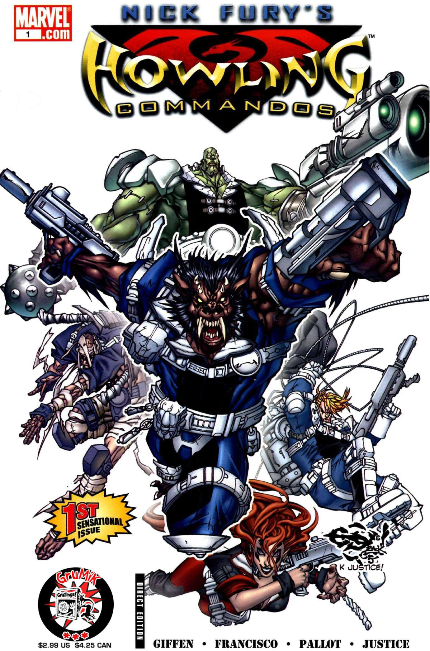 Read online Nick Fury's Howling Commandos comic -  Issue #1 - 1
