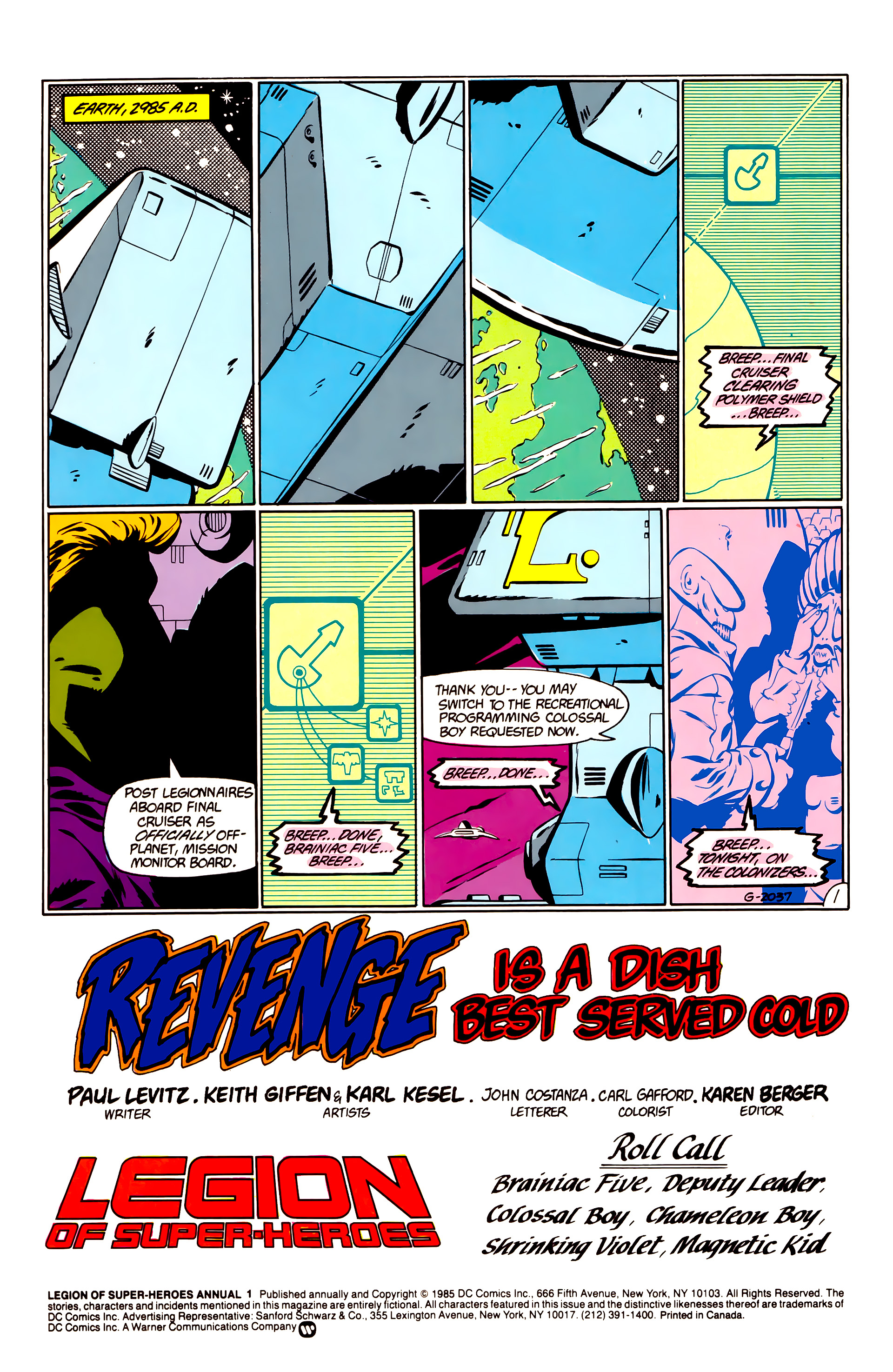 Legion of Super-Heroes (1984) _Annual_1 Page 2