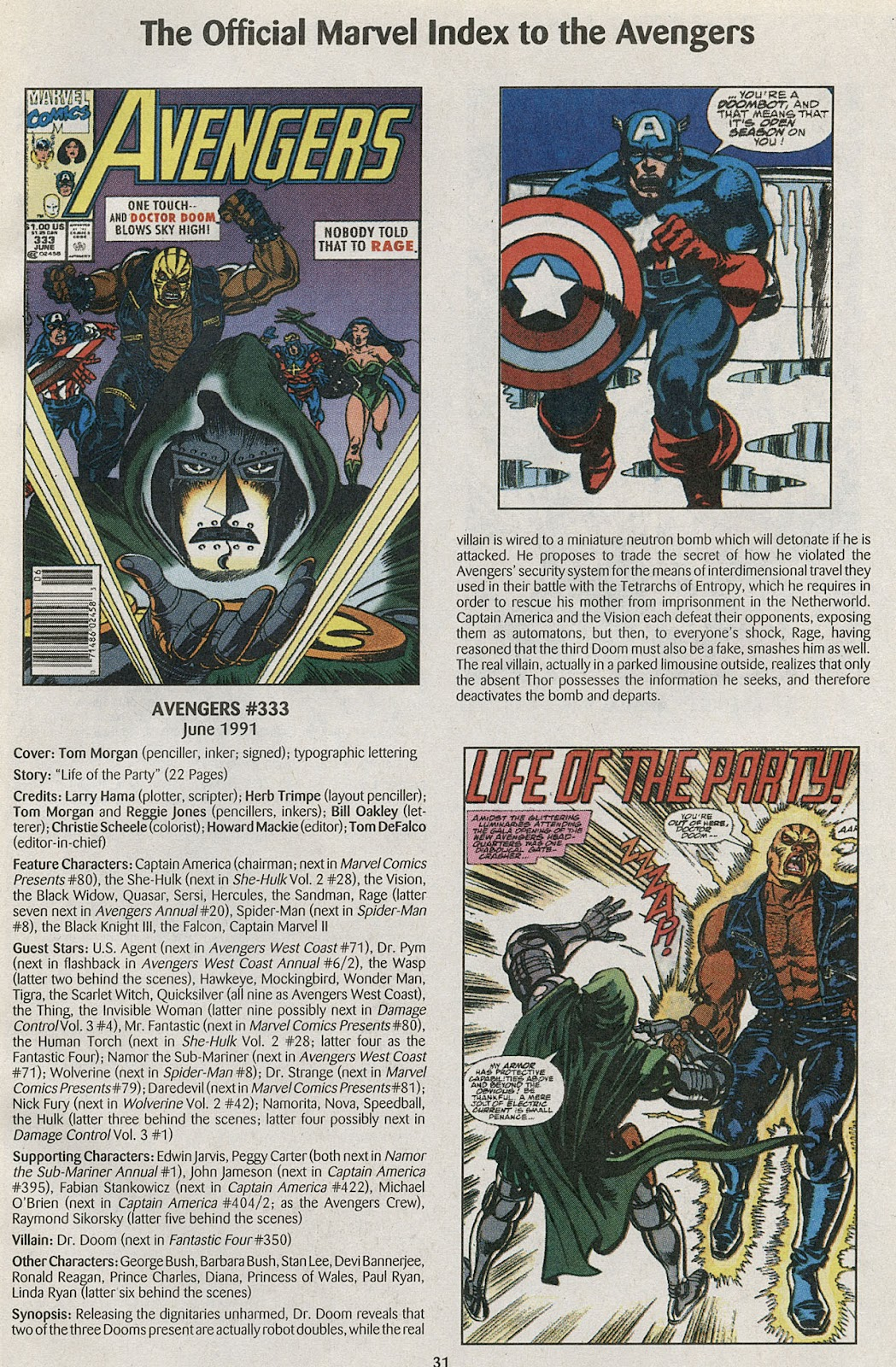 Comic The Official Marvel Index to the Avengers issue 6