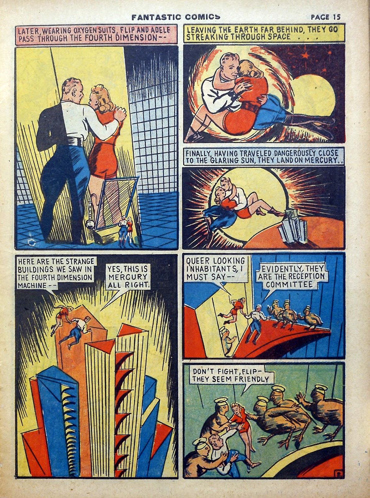 Read online Fantastic Comics comic -  Issue #5 - 16
