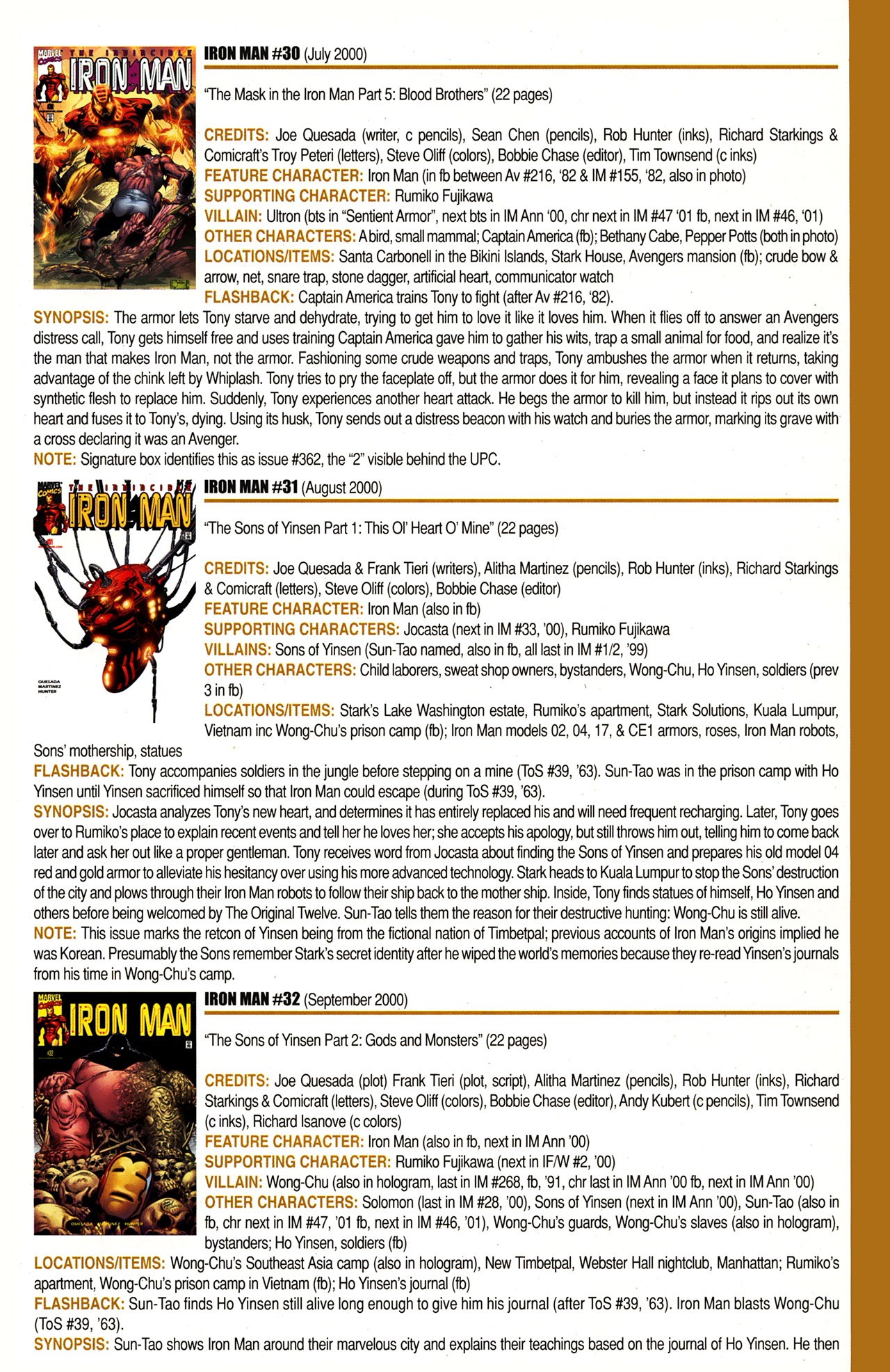 Read online Official Index to the Marvel Universe comic -  Issue #10 - 43