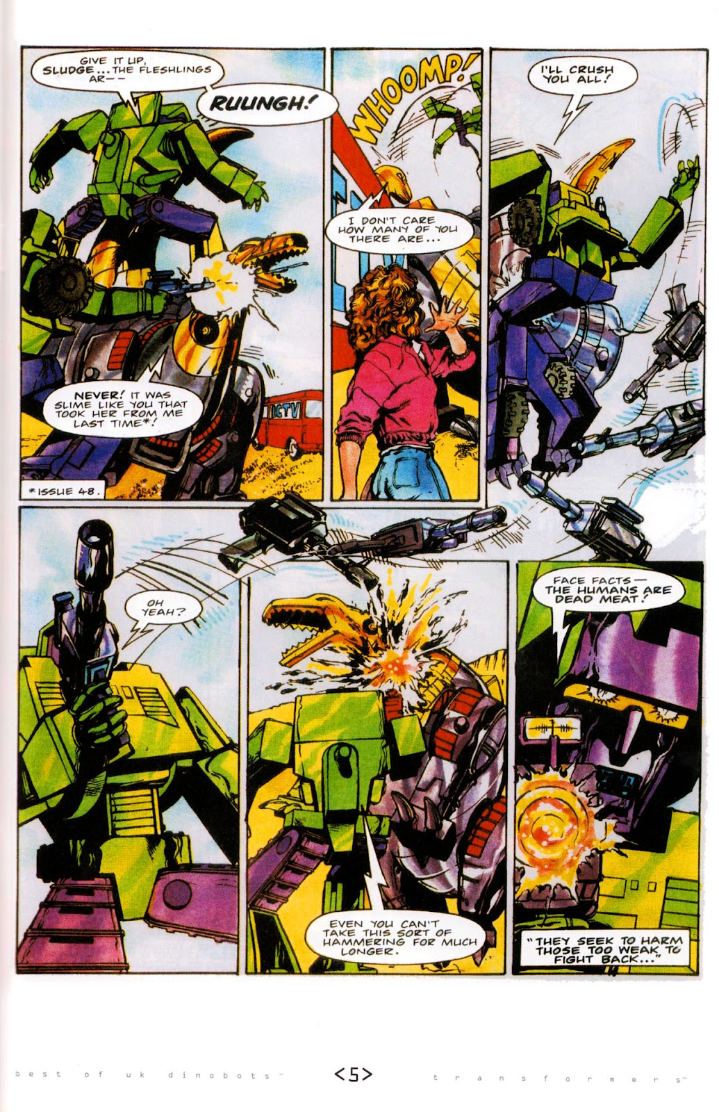 Read online The Transformers: Best of UK: Dinobots comic -  Issue #6 - 8