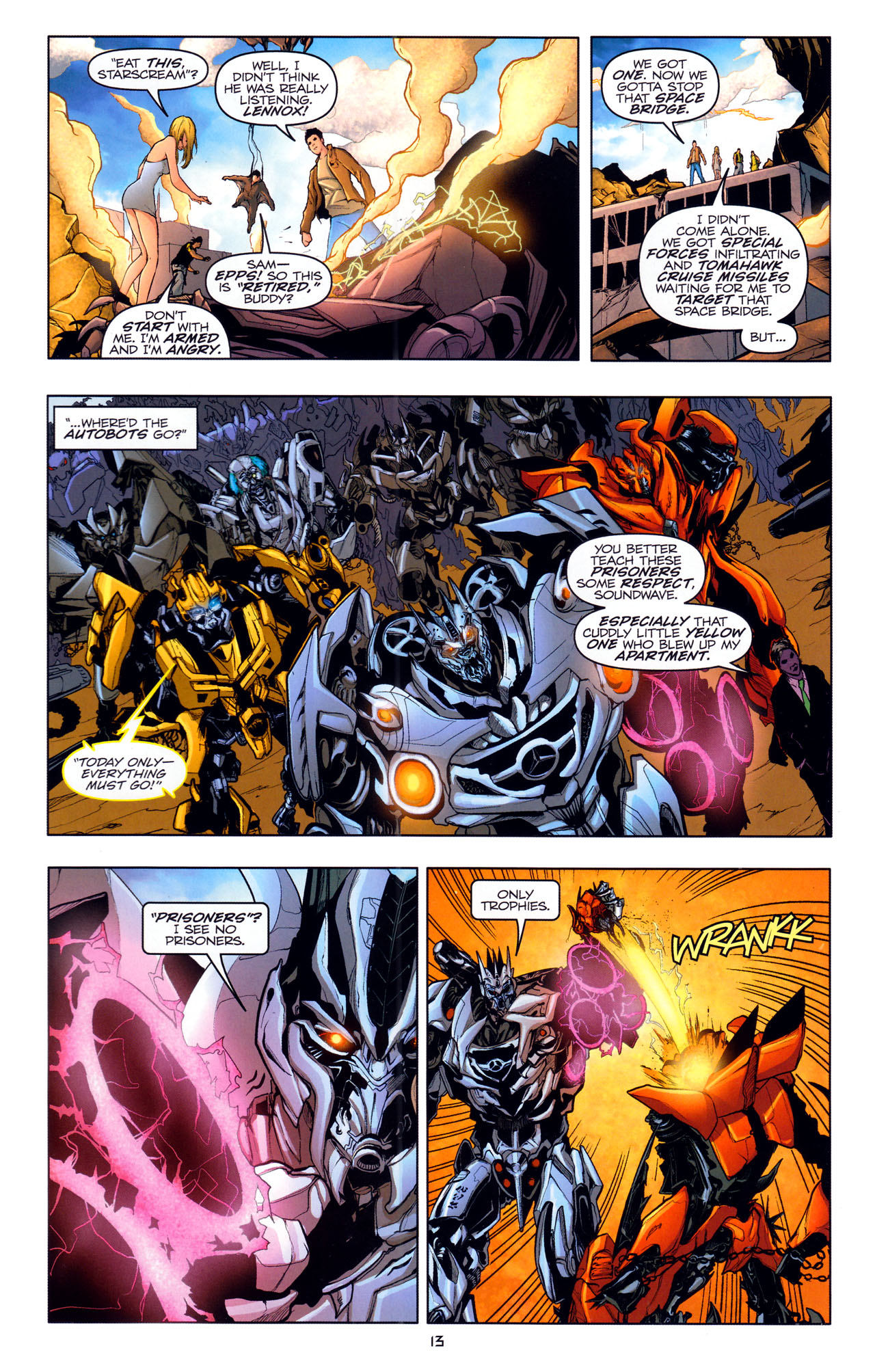 Read online Transformers: Dark of the Moon Movie Adaptation comic -  Issue #4 - 15