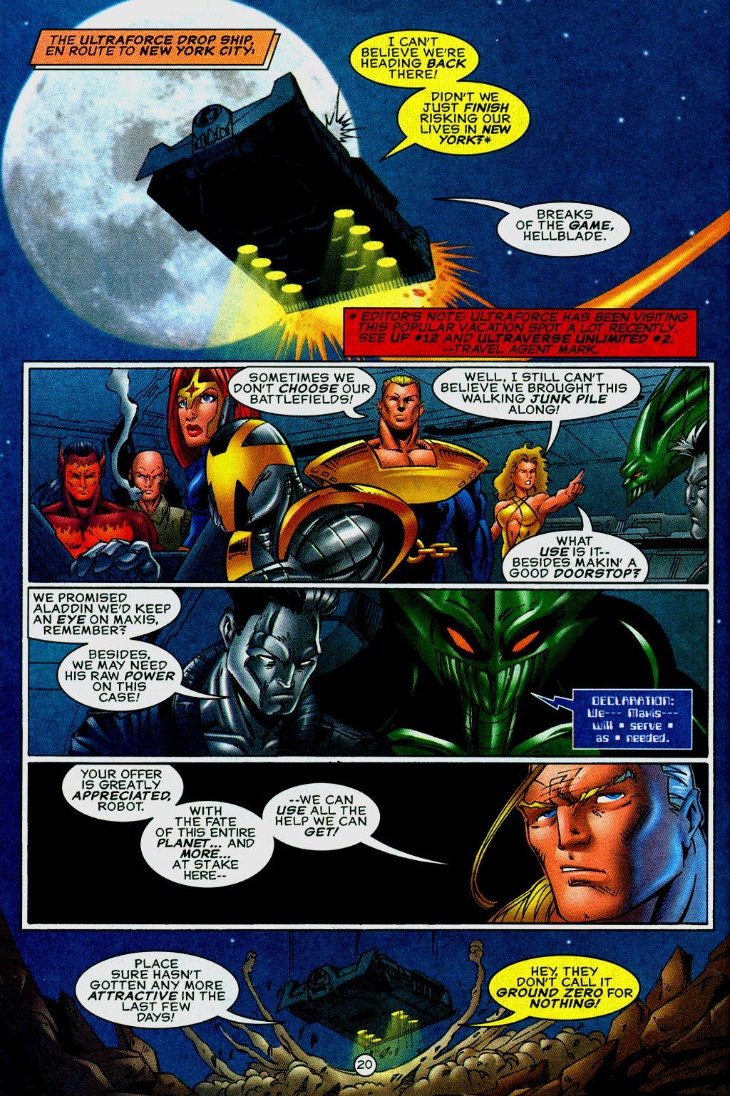 Read online UltraForce (1995) comic -  Issue #14 - 20