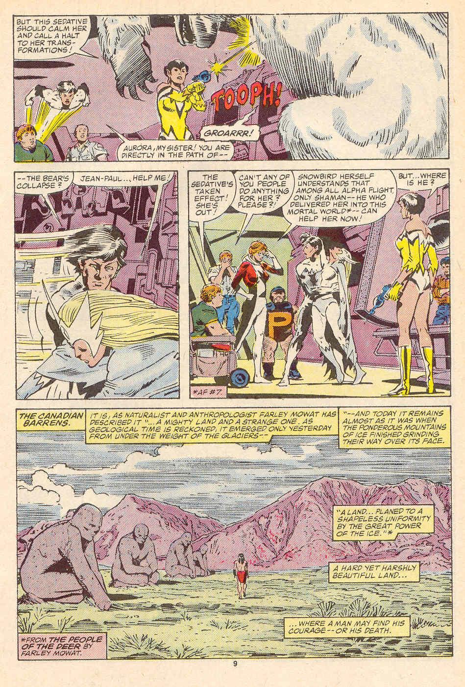 Read online Alpha Flight (1983) comic -  Issue #35 - 10