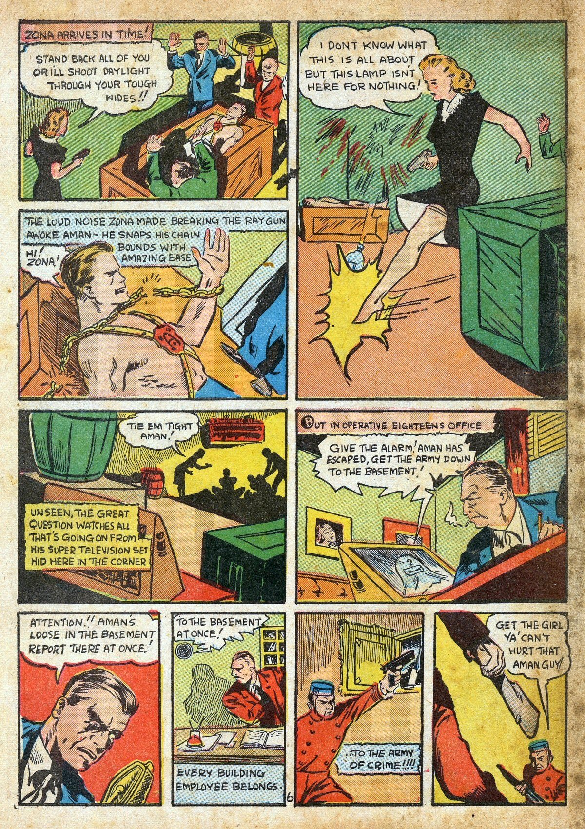 Read online Amazing Man Comics comic -  Issue #16 - 8
