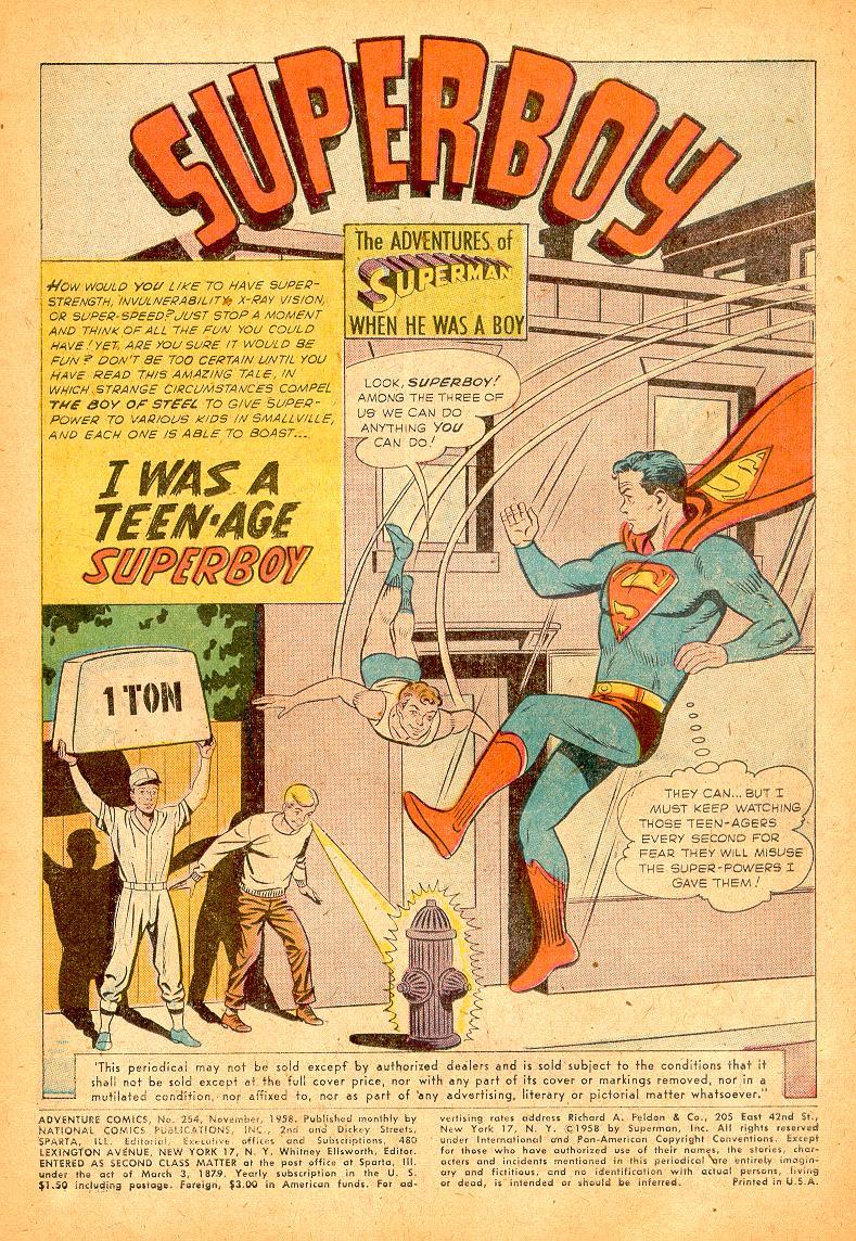 Read online Adventure Comics (1938) comic -  Issue #254 - 3