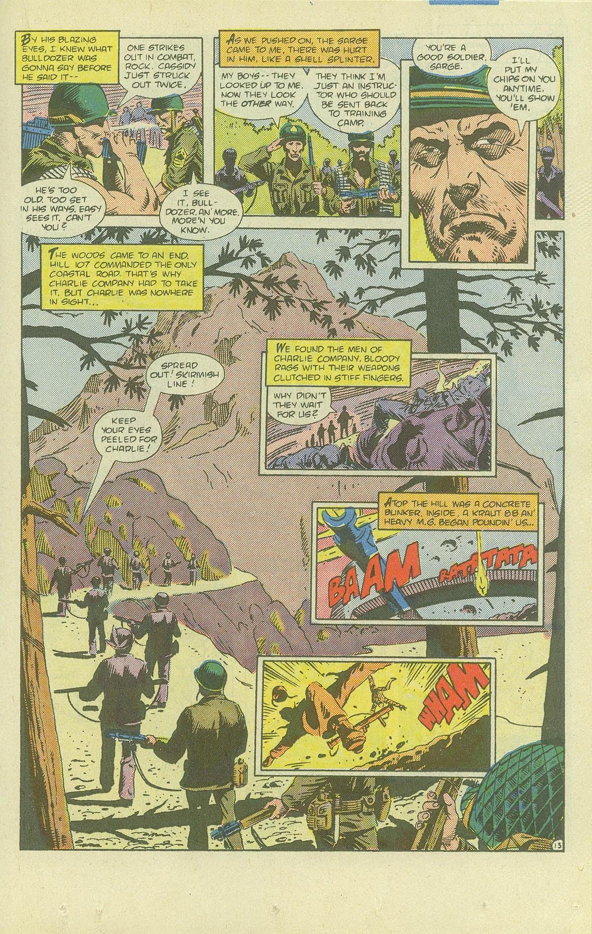 Read online Sgt. Rock comic -  Issue #411 - 18