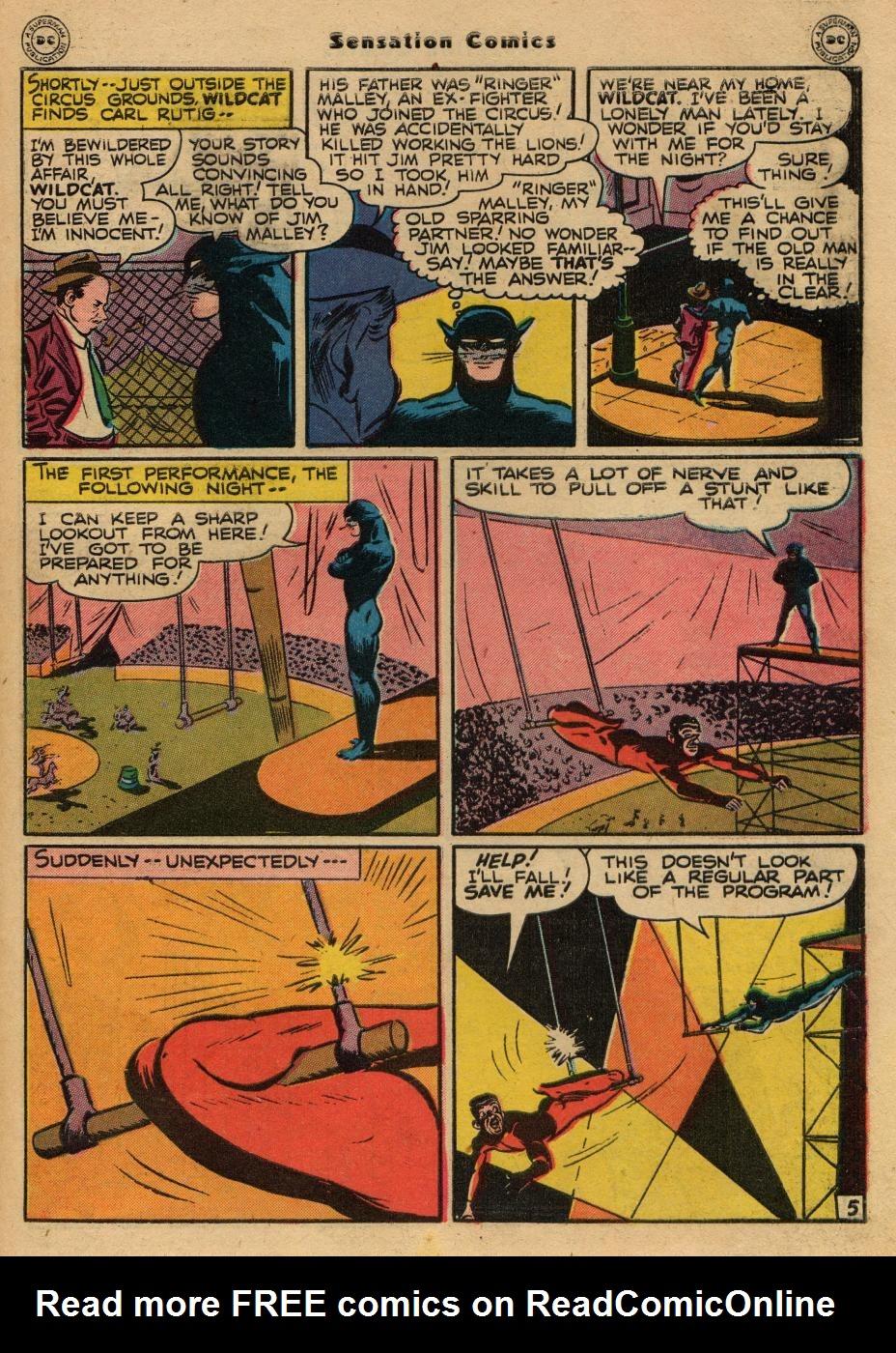 Read online Sensation (Mystery) Comics comic -  Issue #61 - 45