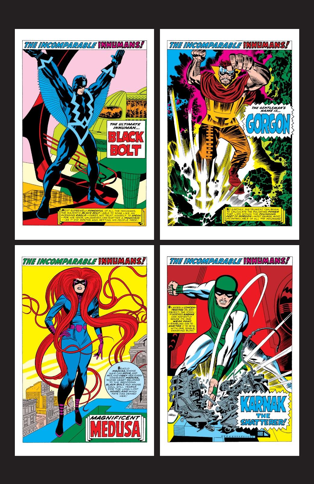 Read online Marvel Masterworks: The Inhumans comic -  Issue # TPB 2 (Part 3) - 116