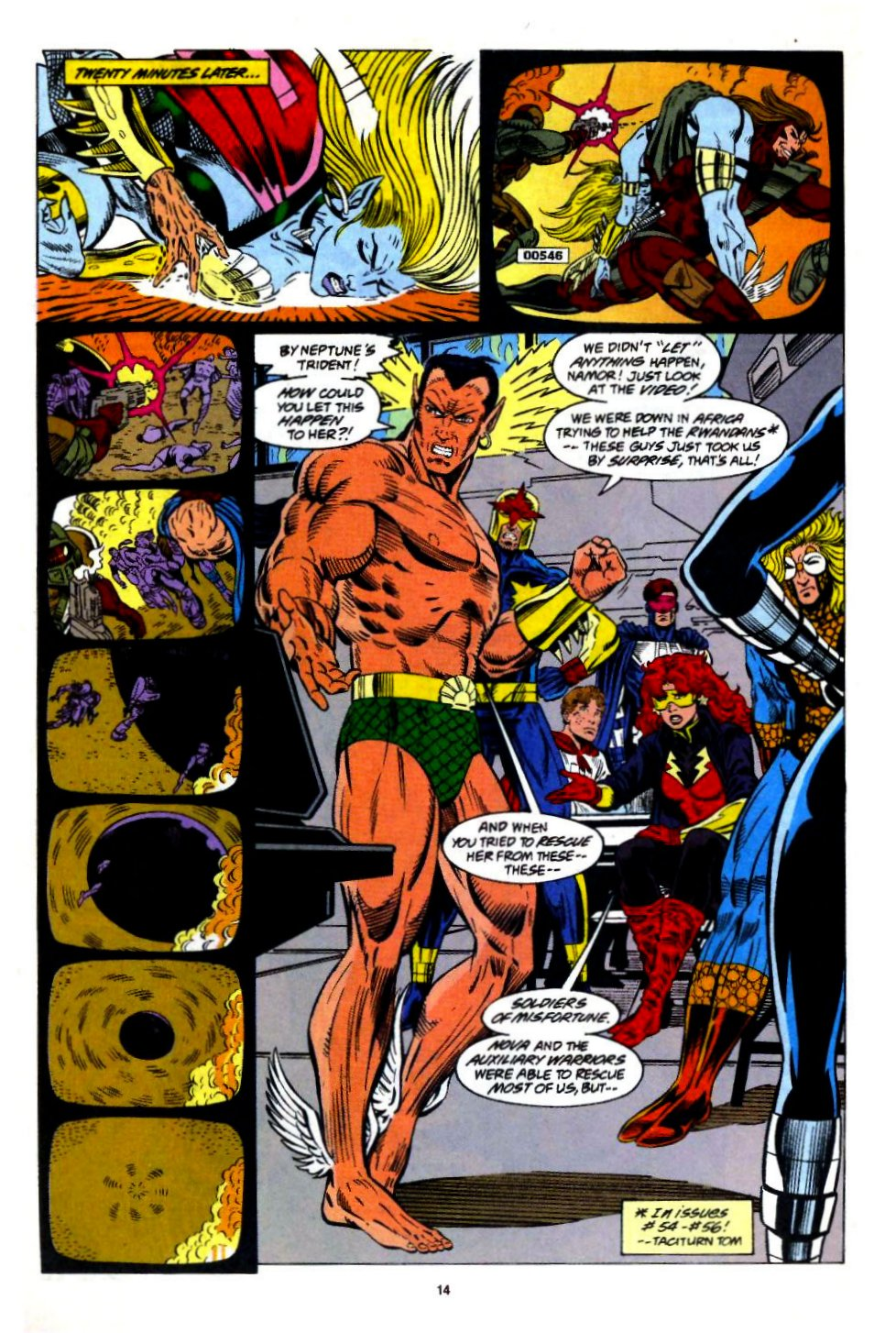The New Warriors Issue #57 #61 - English 12