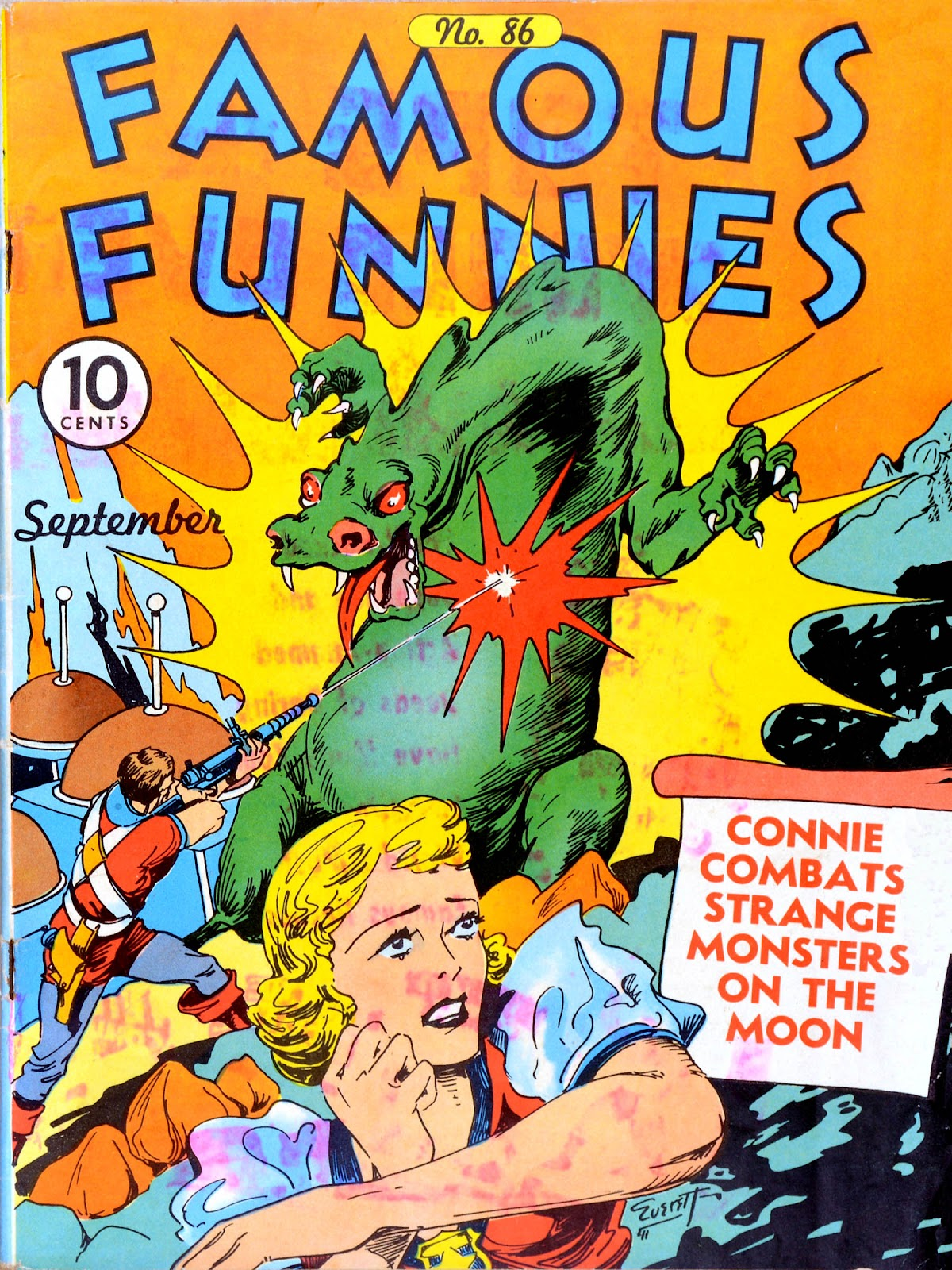 Read online Famous Funnies comic -  Issue #86 - 1