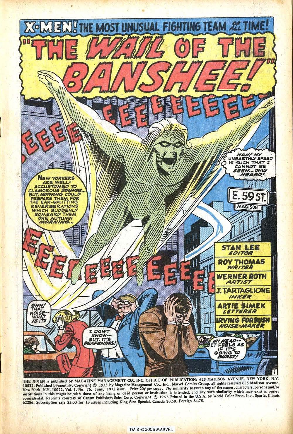 Uncanny X-Men (1963) 76 Page 2