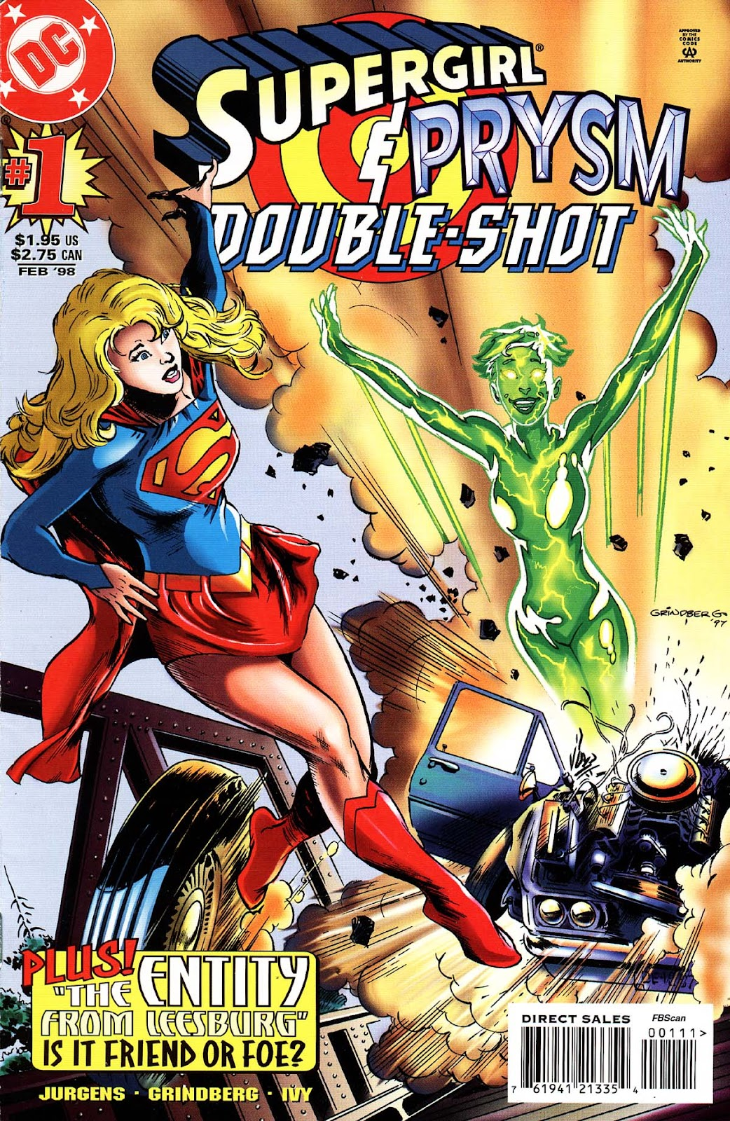 Supergirl/Prysm Double-Shot issue Full - Page 1