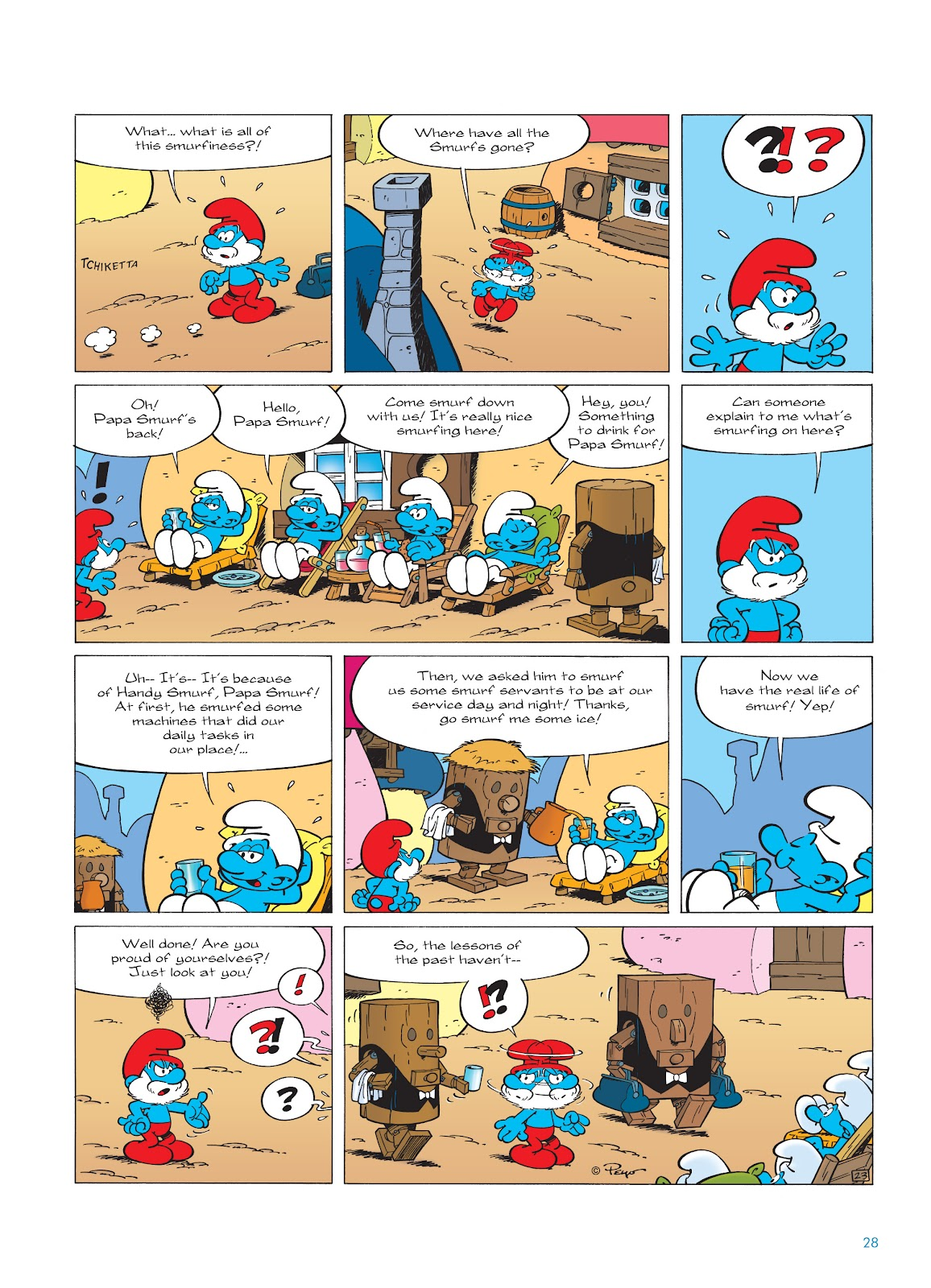 Read online The Smurfs comic -  Issue #23 - 28