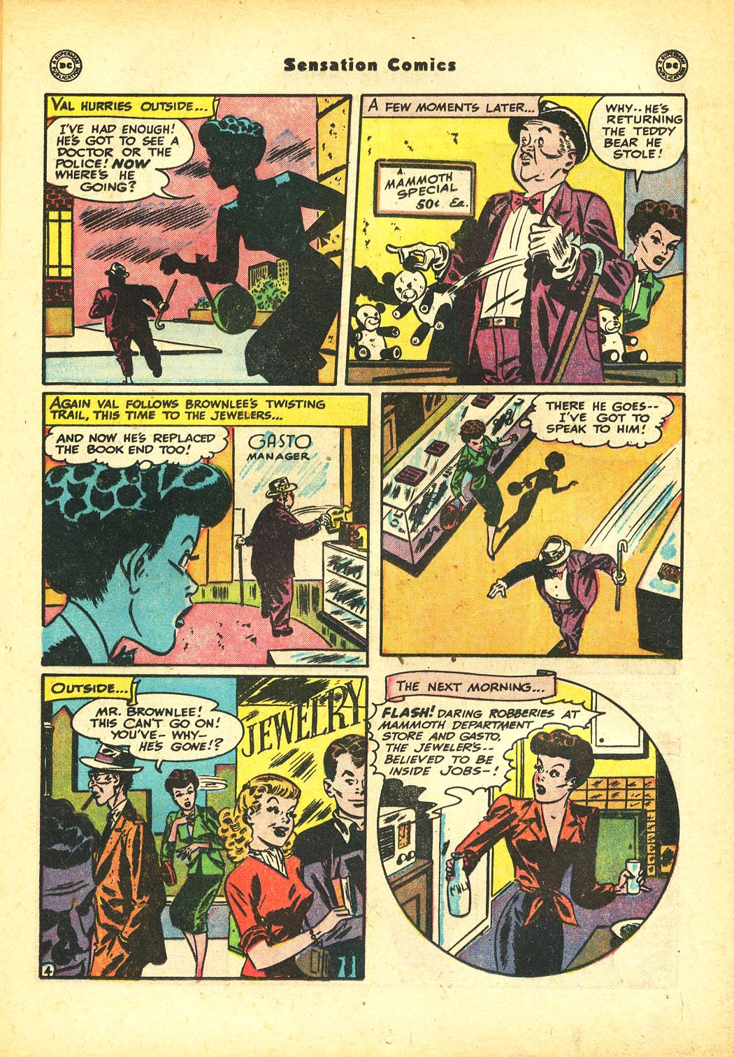 Read online Sensation (Mystery) Comics comic -  Issue #86 - 19
