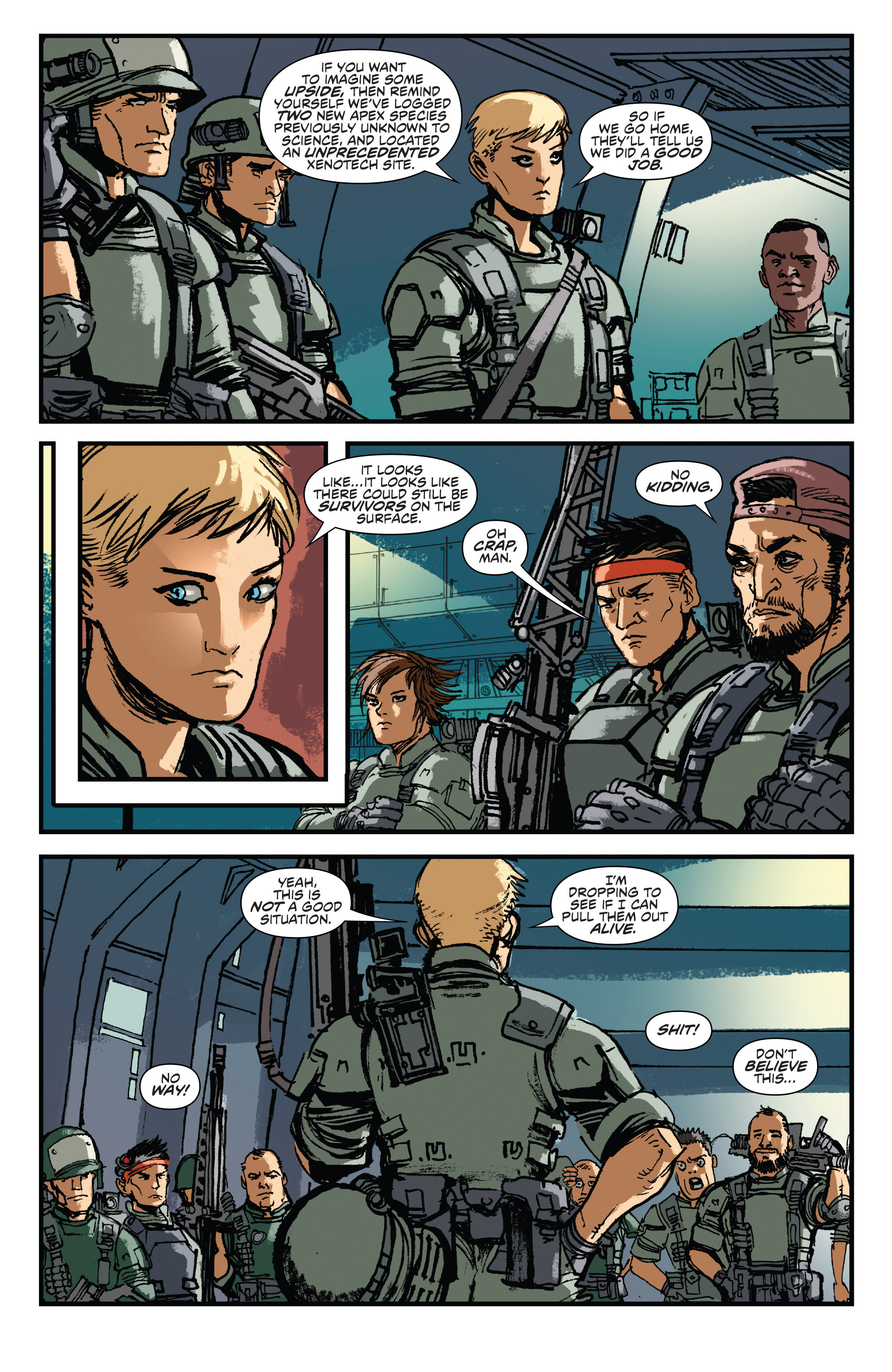 Read online Aliens: Life And Death comic -  Issue #2 - 7