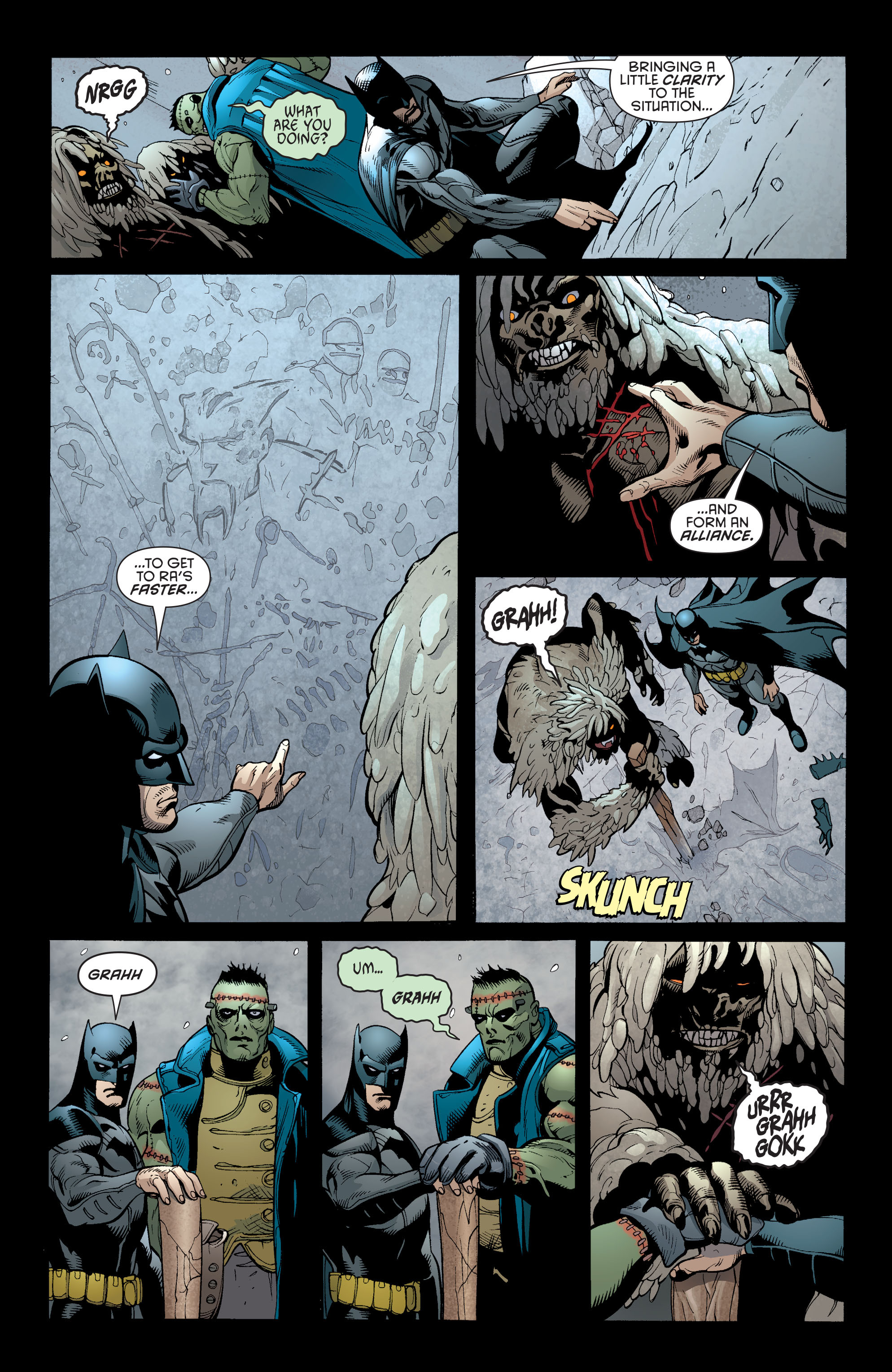 Read online Batman and Robin (2011) comic -  Issue #31 - Batman and Frankenstein - 19