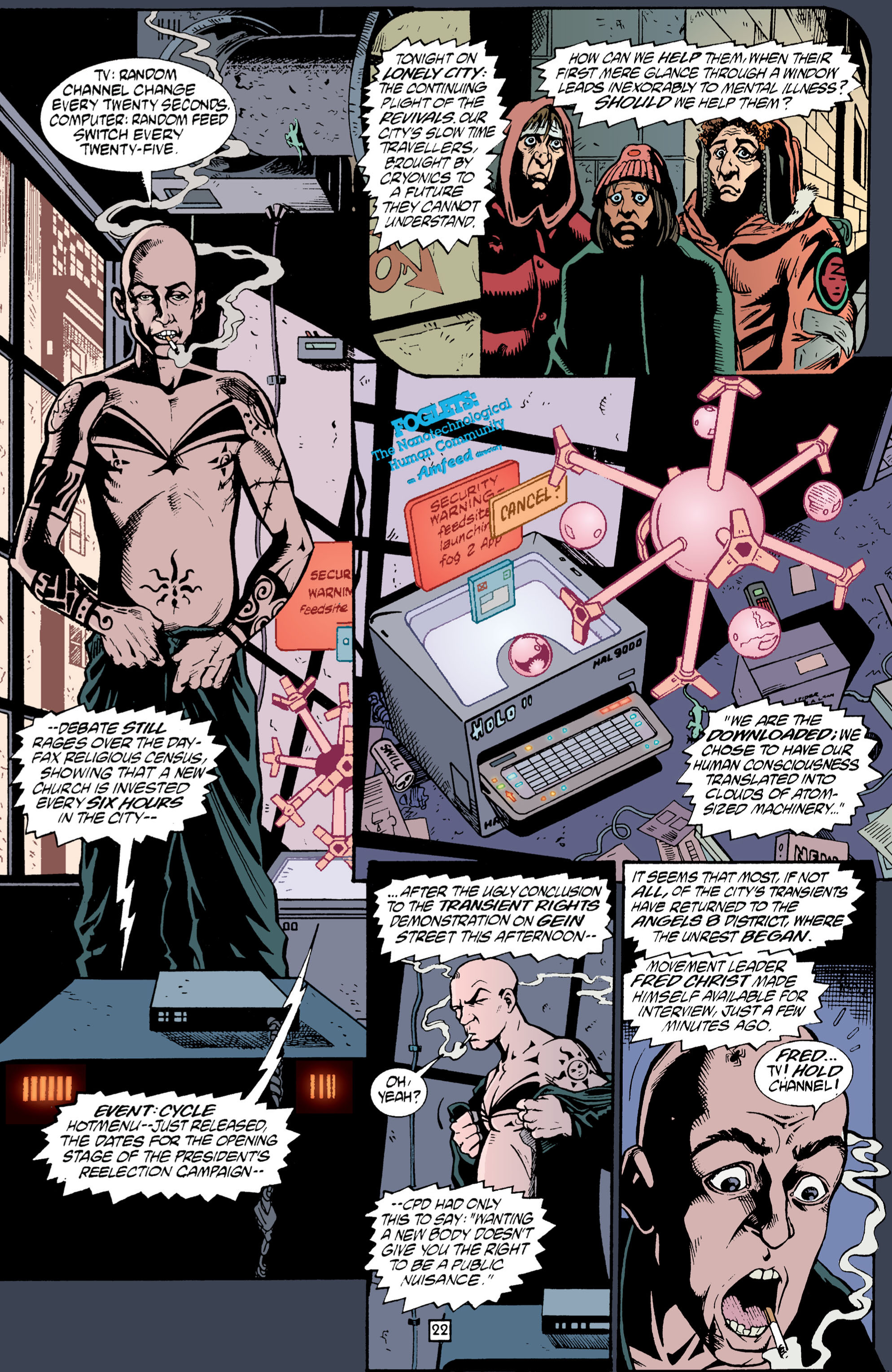 Read online Transmetropolitan comic -  Issue #1 - 23
