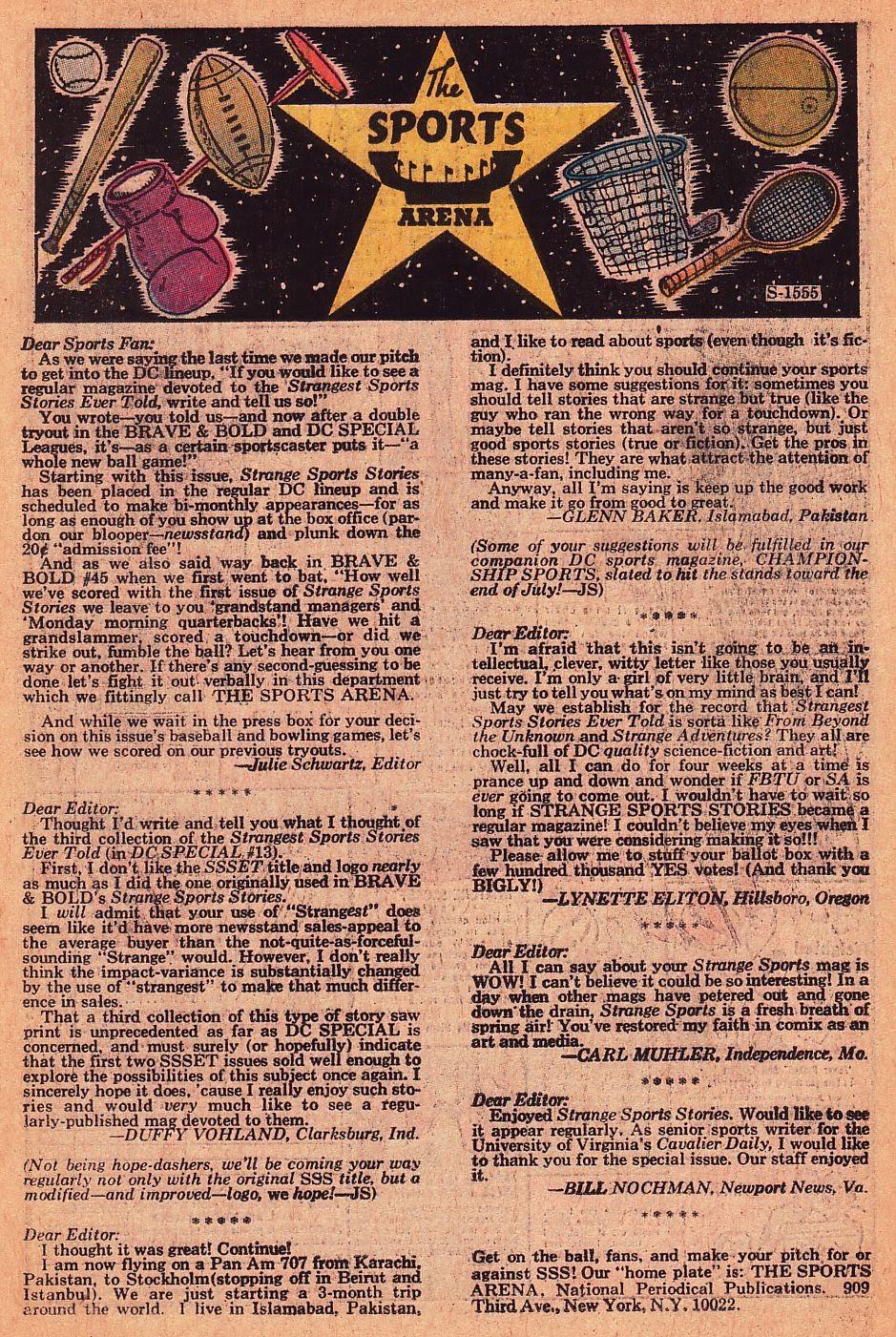 Read online Strange Sports Stories (1973) comic -  Issue #1 - 14