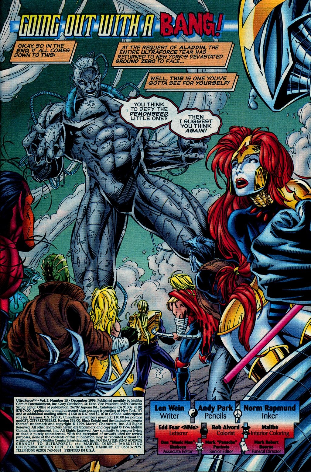Read online UltraForce (1995) comic -  Issue #15 - 2