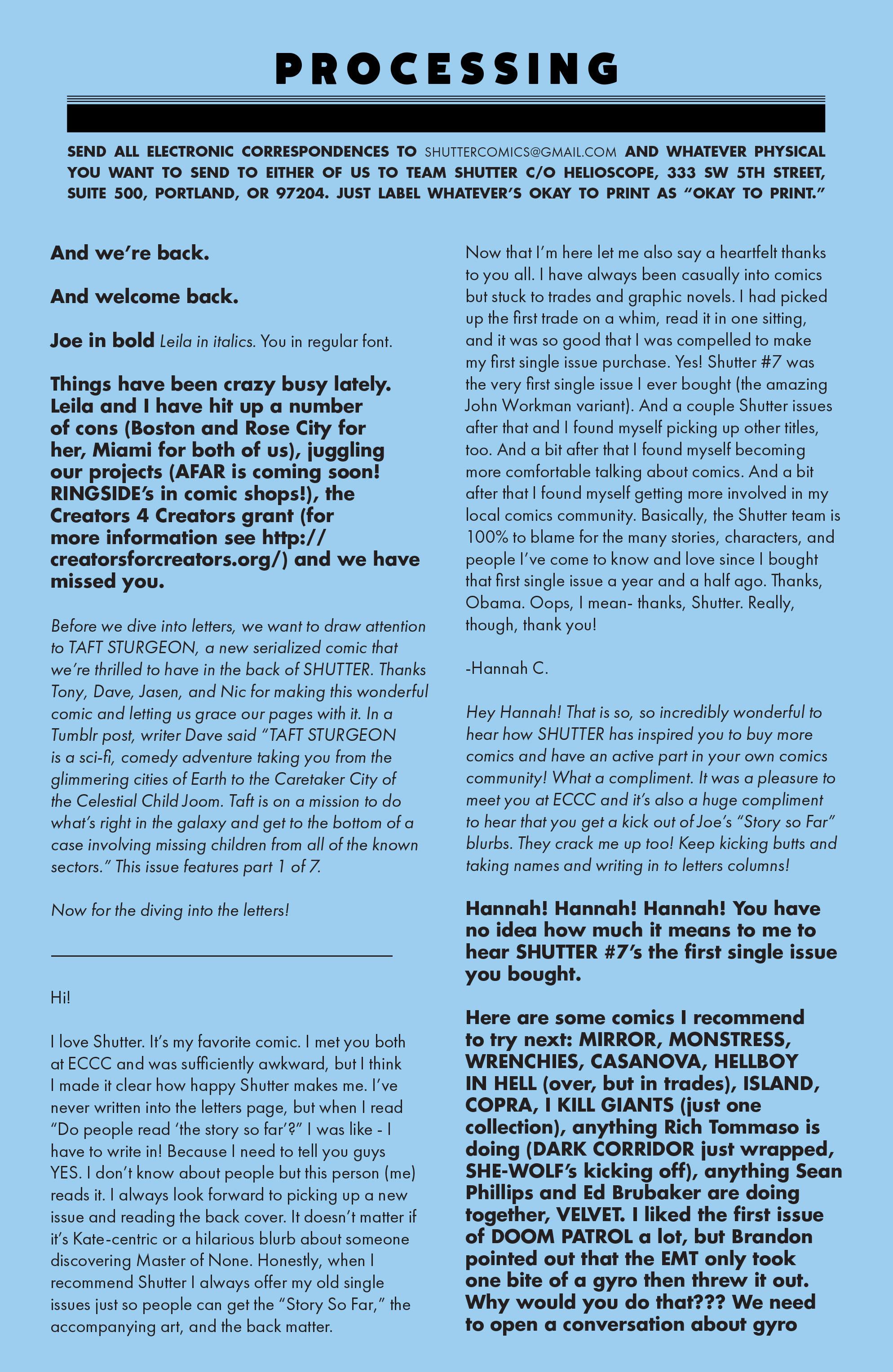 Read online Shutter comic -  Issue #23 - 25