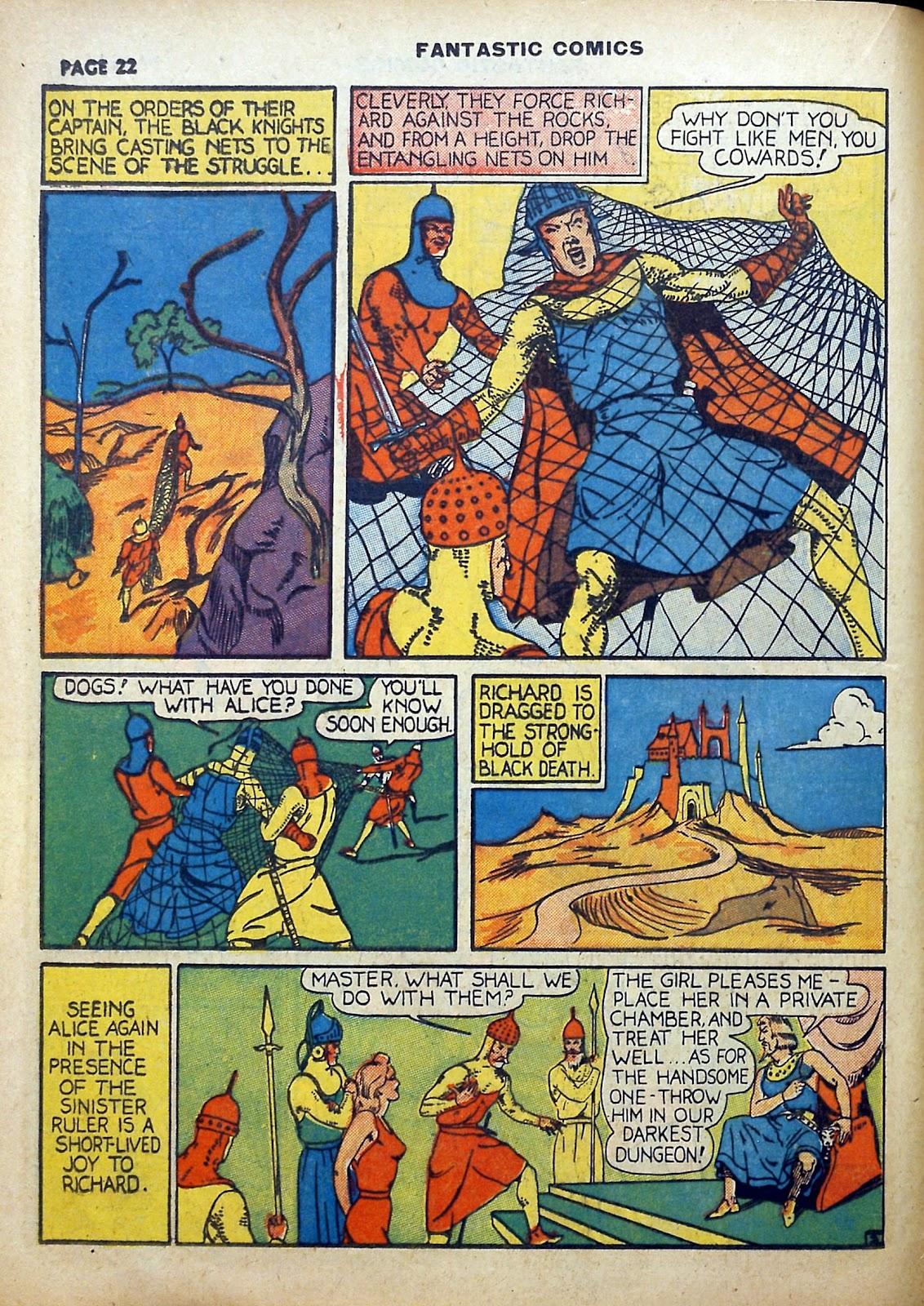 Read online Fantastic Comics comic -  Issue #5 - 23