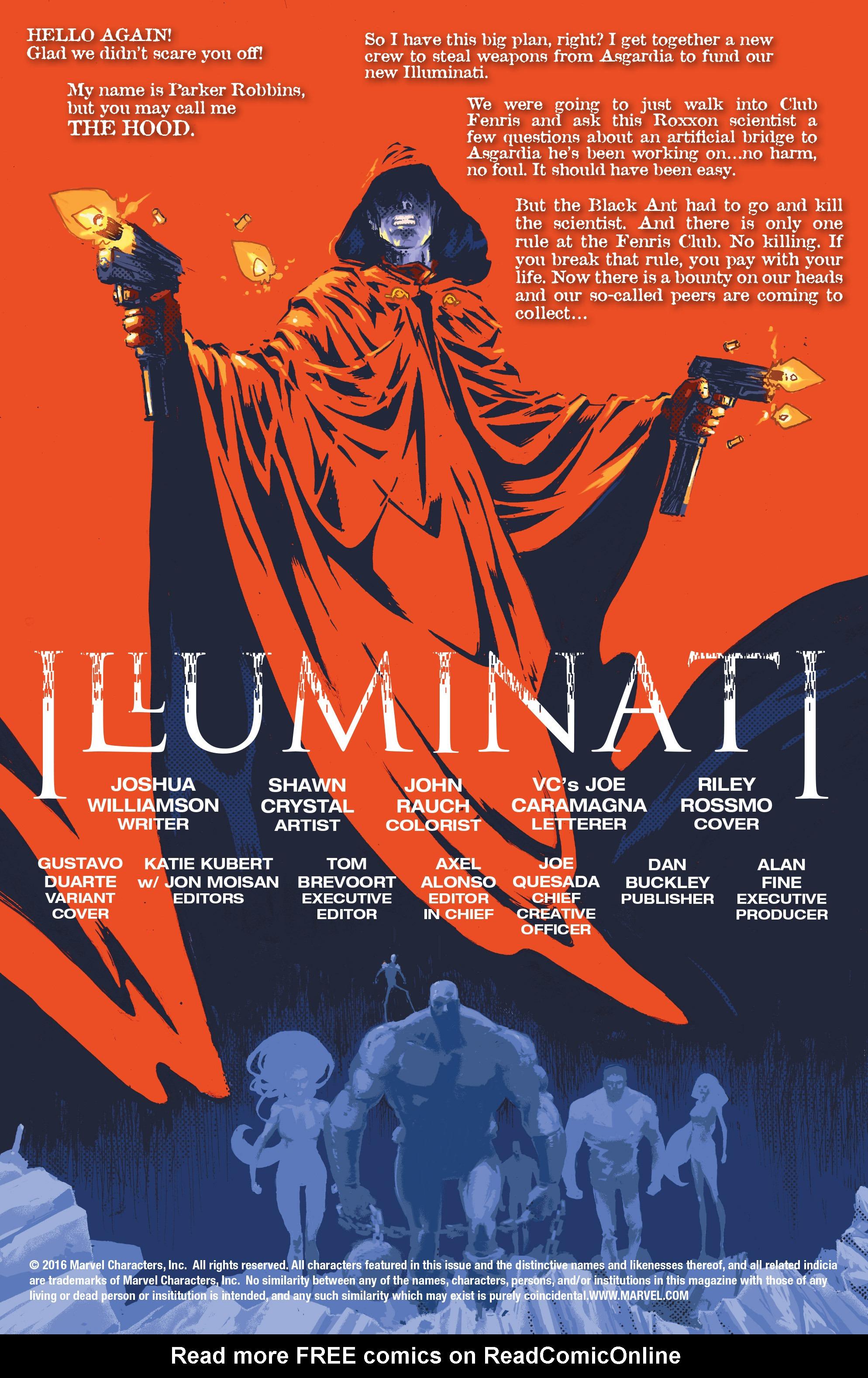 Read online Illuminati comic -  Issue #3 - 2