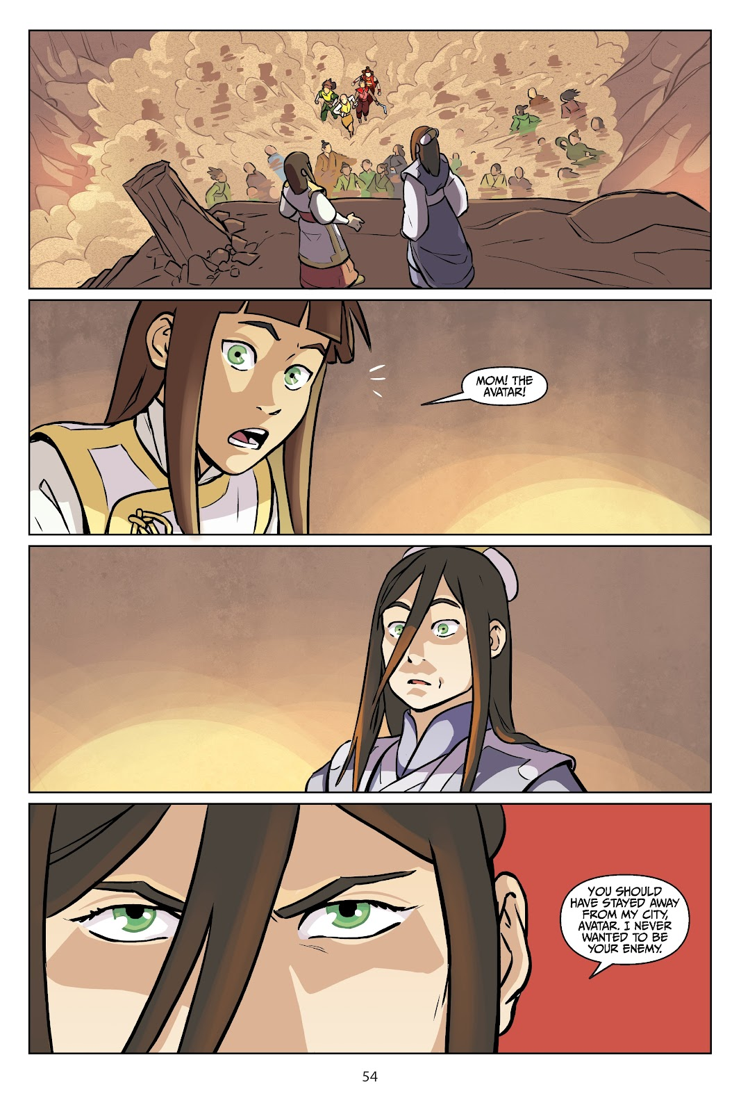 Read online Nickelodeon Avatar: The Last Airbender - Imbalance comic -  Issue # TPB 2 - 55