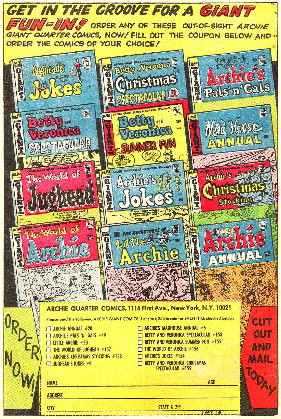 Read online Archie (1960) comic -  Issue #187 - 19