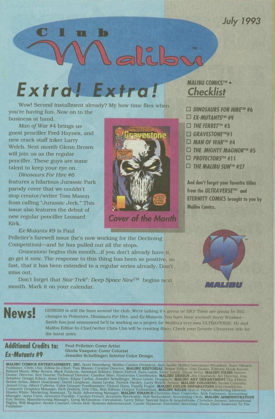 Read online Ex-Mutants comic -  Issue #9 - 34