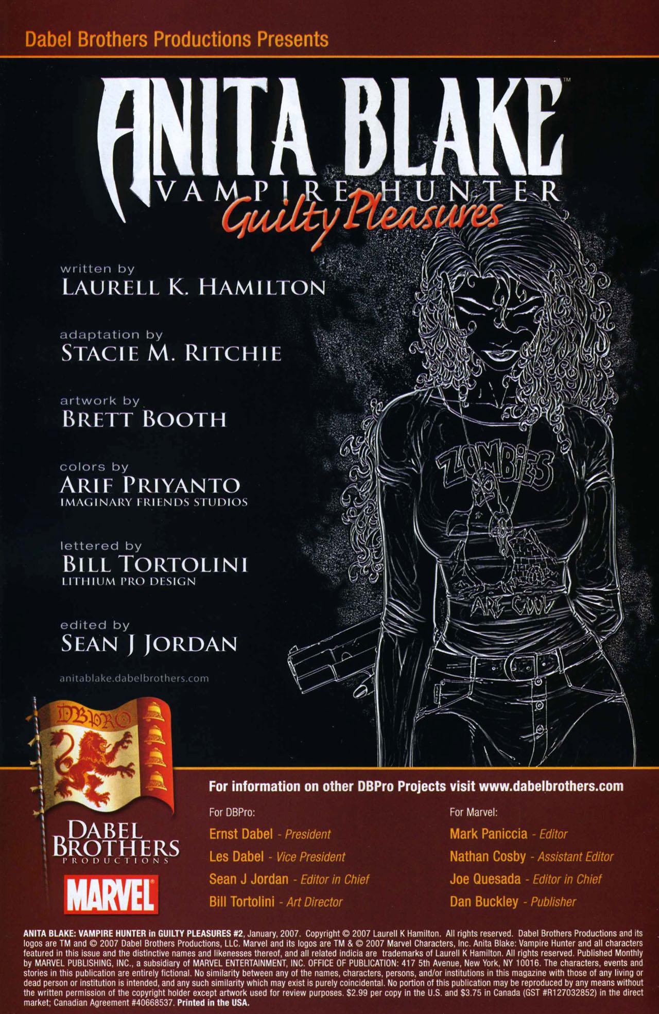 Read online Anita Blake, Vampire Hunter: Guilty Pleasures comic -  Issue #2 - 2