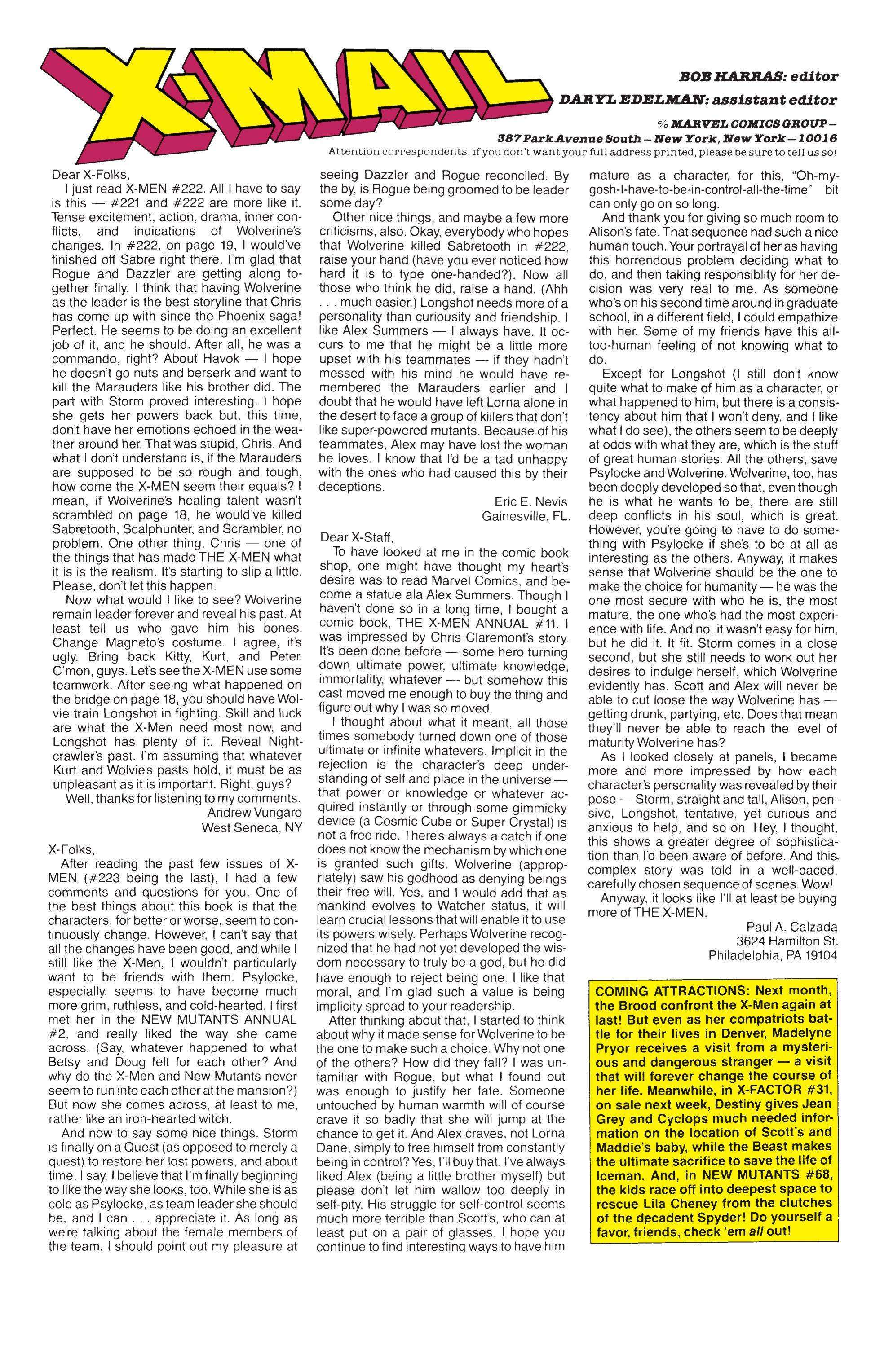 Read online Uncanny X-Men (1963) comic -  Issue #232 - 24