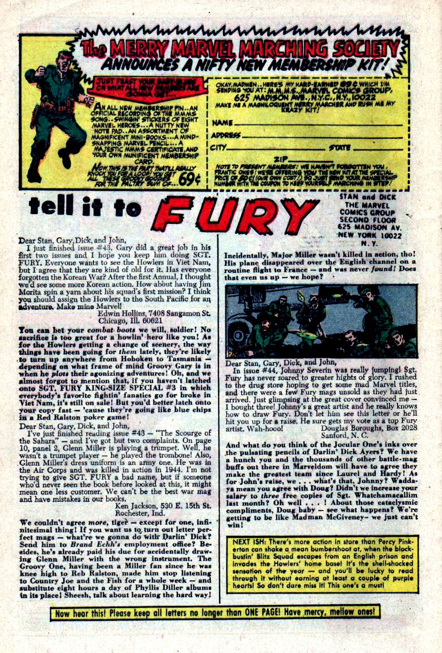 Read online Sgt. Fury comic -  Issue #47 - 31