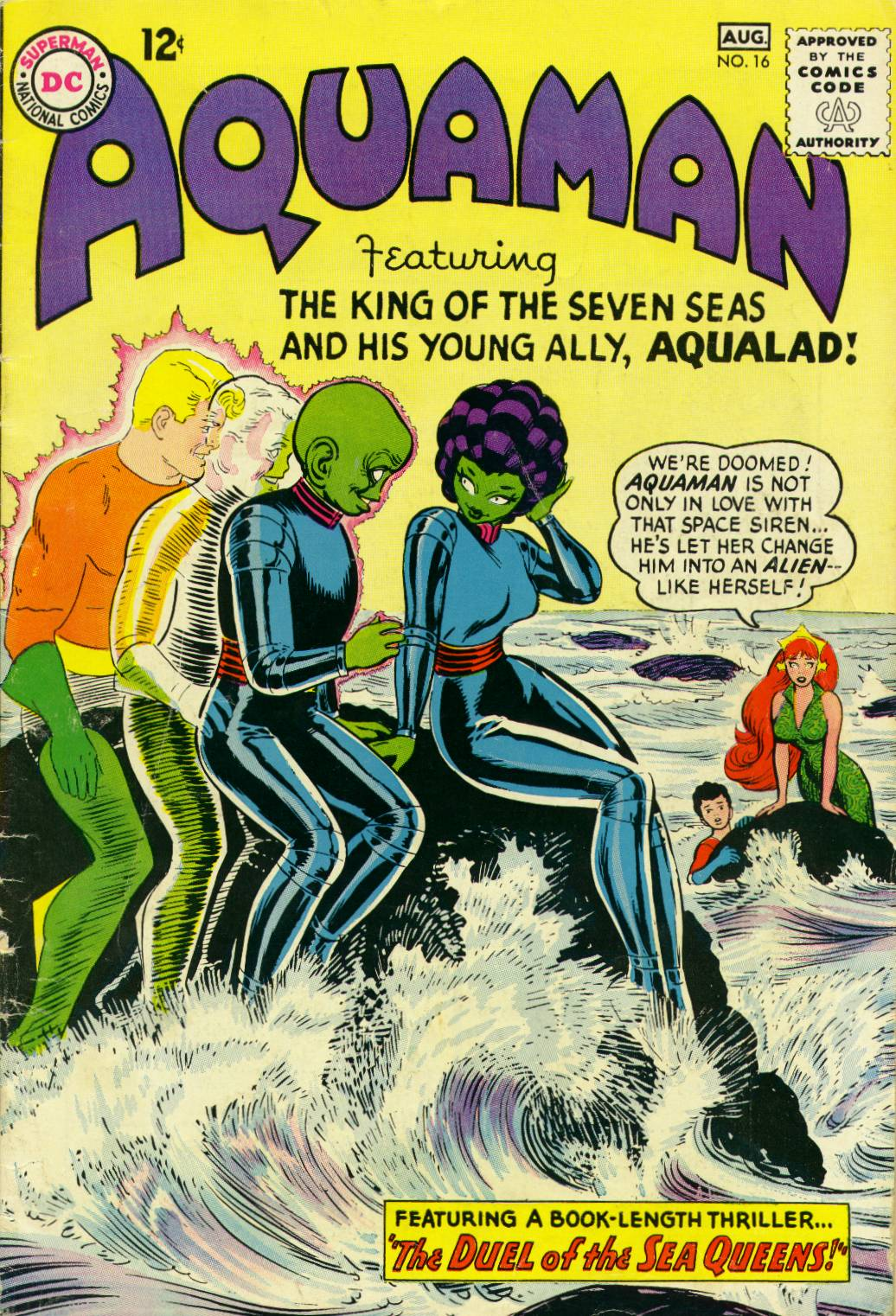Read online Aquaman (1962) comic -  Issue #16 - 1