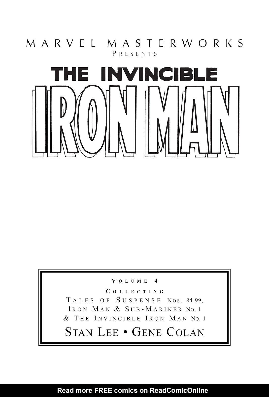 Read online Marvel Masterworks: The Invincible Iron Man comic -  Issue # TPB 4 (Part 1) - 2