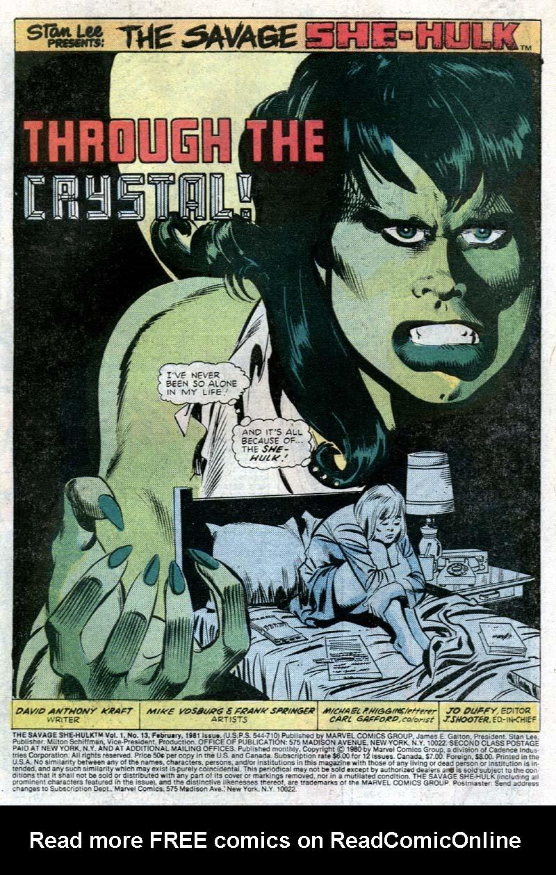 The Savage She-Hulk 13 Page 2
