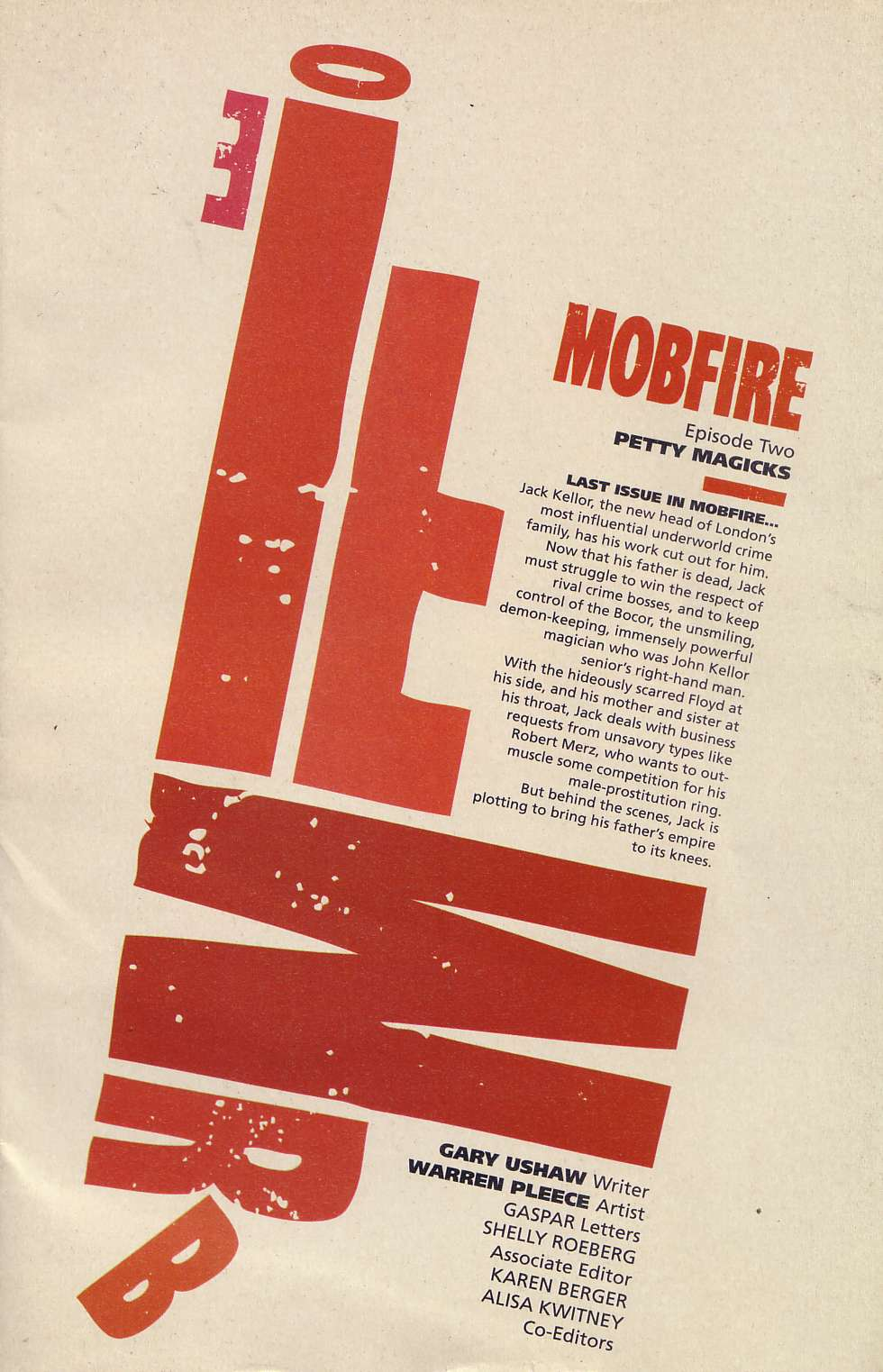 Read online Mobfire comic -  Issue #2 - 2
