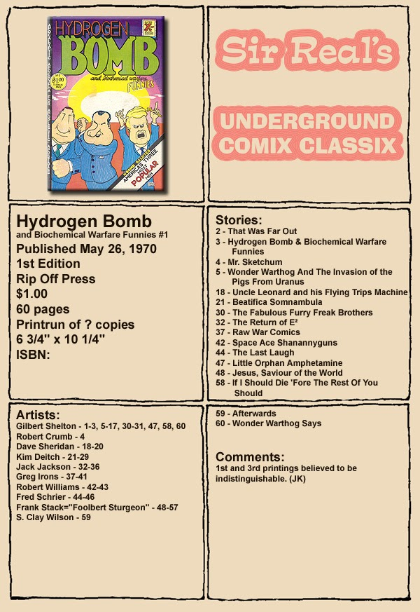 Hydrogen Bomb Funnies issue Full - Page 1