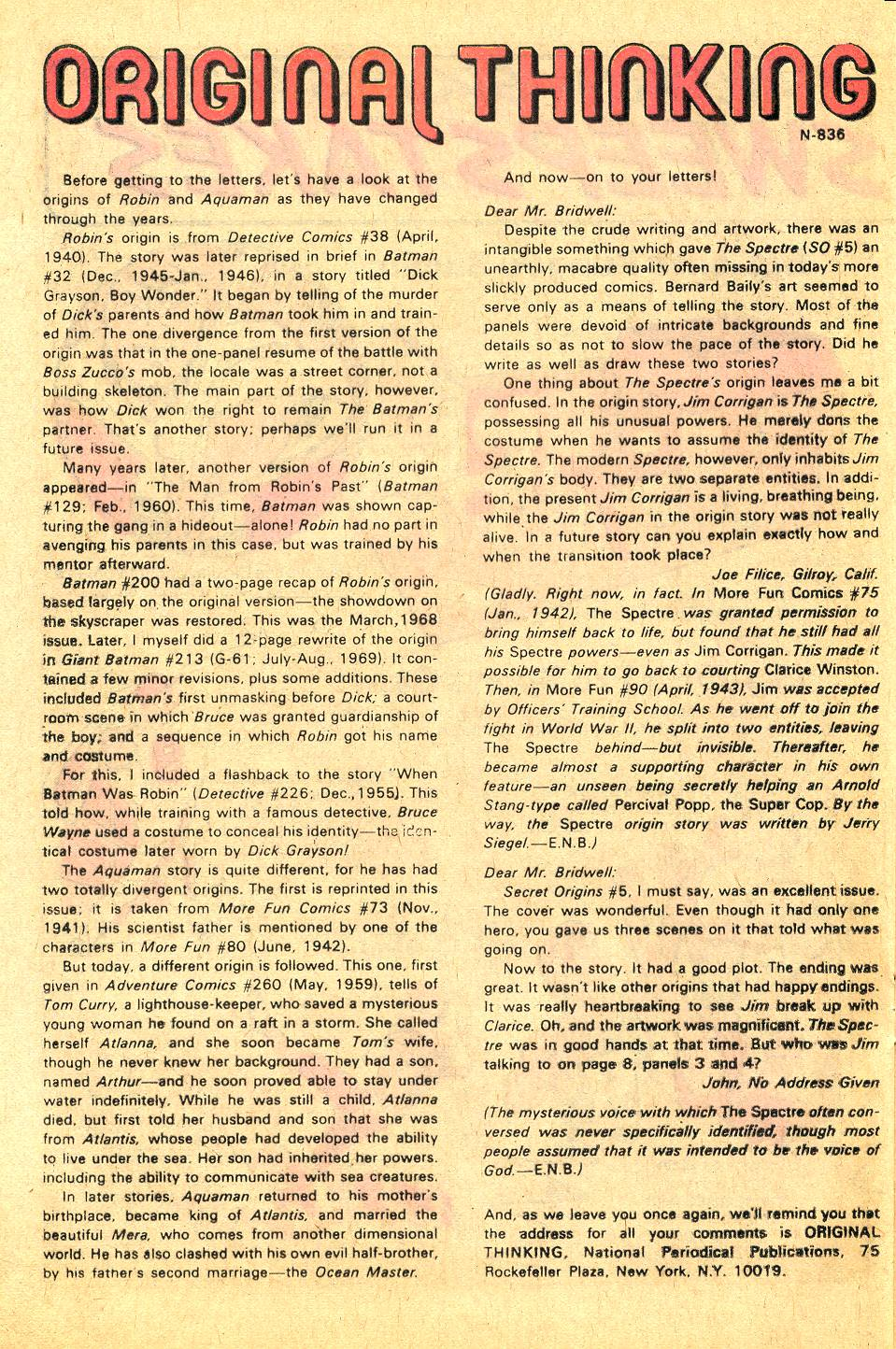 Read online Secret Origins (1973) comic -  Issue #7 - 19