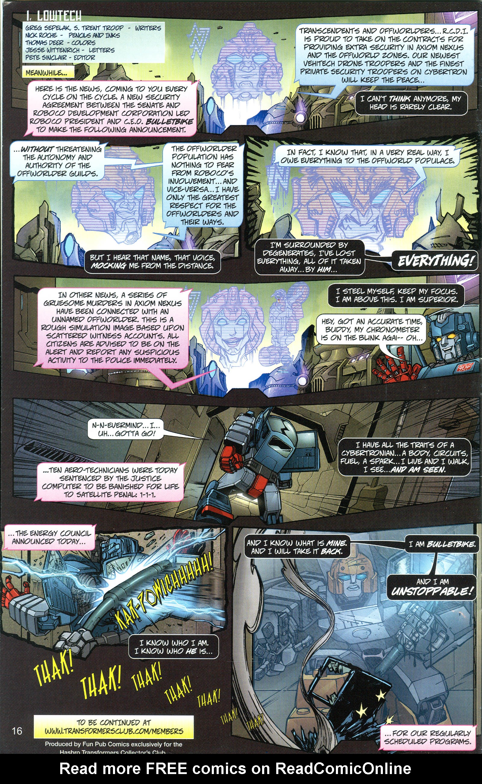 Read online Transformers: Collectors' Club comic -  Issue #21 - 16