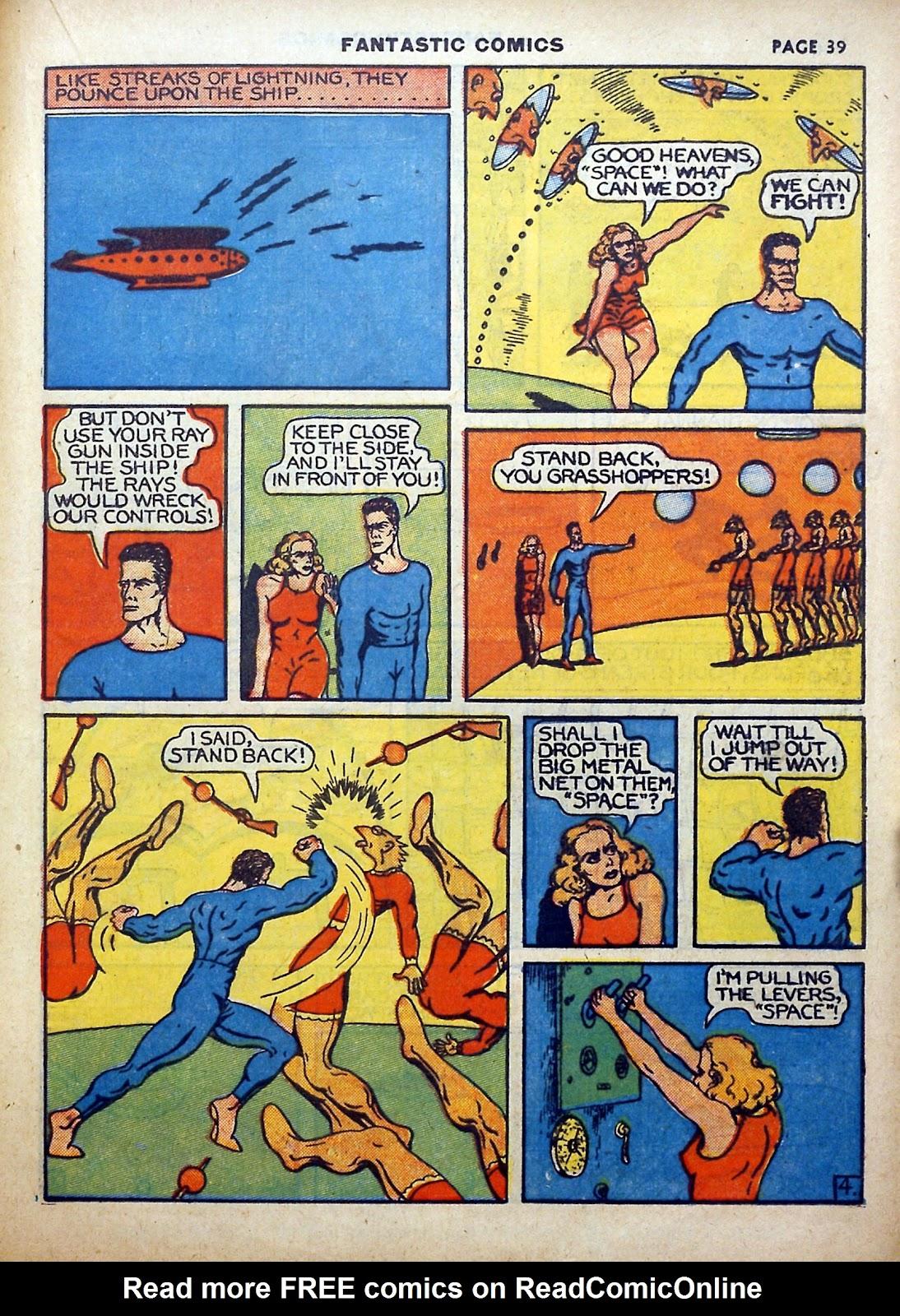 Read online Fantastic Comics comic -  Issue #5 - 40