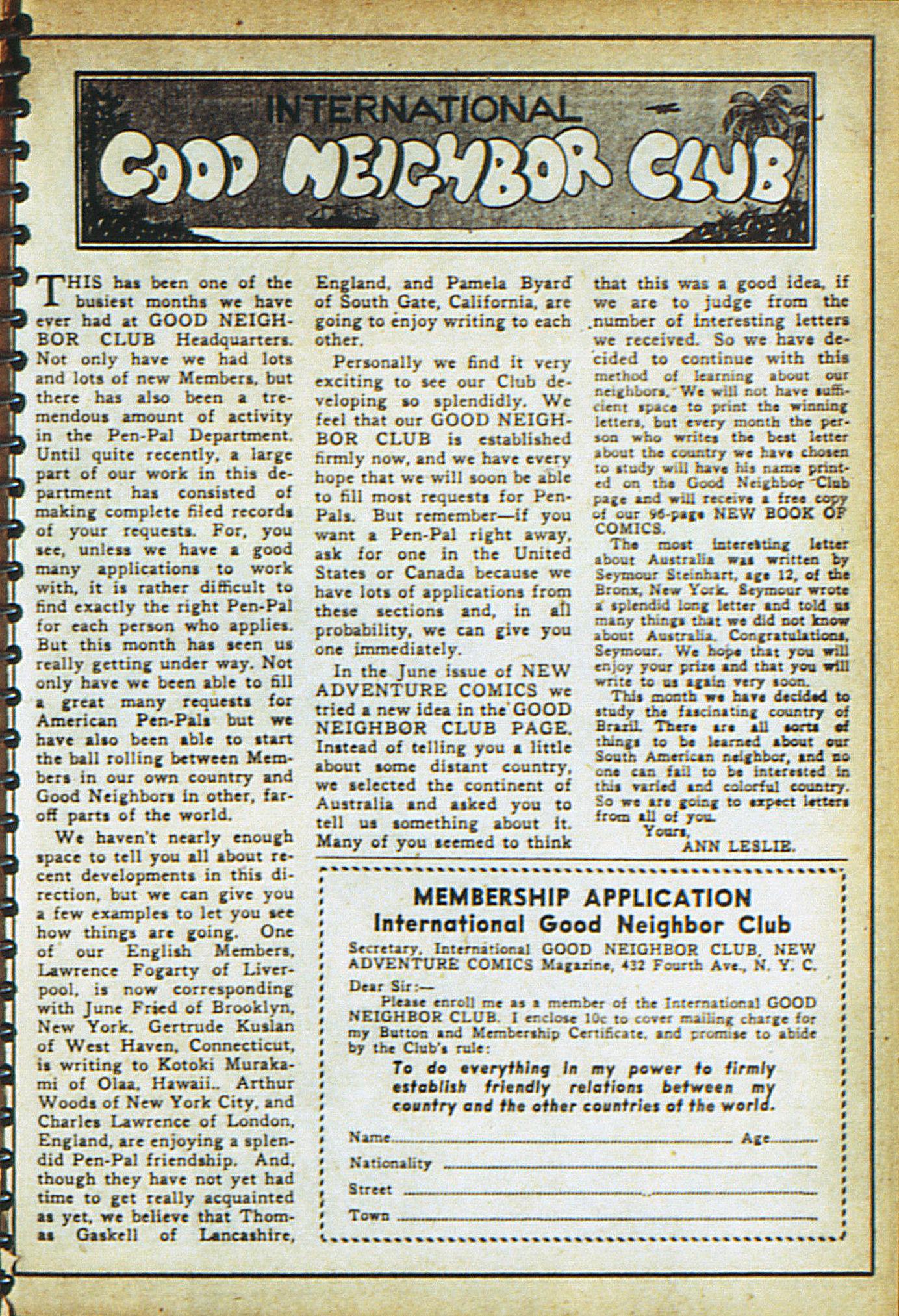 Read online Adventure Comics (1938) comic -  Issue #18 - 30