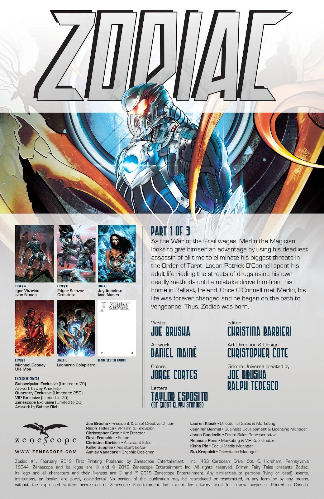 Read online Zodiac comic -  Issue #1 - 2