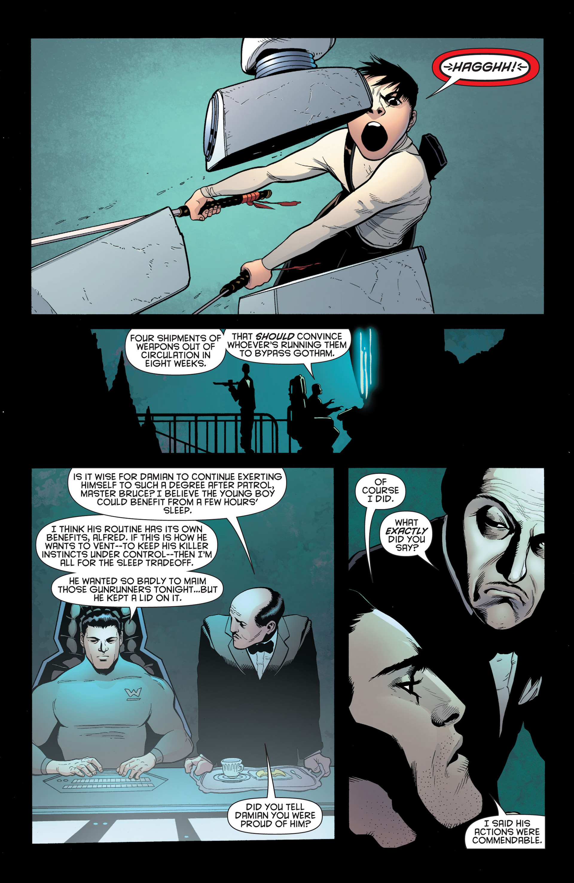 Read online Batman and Robin (2011) comic -  Issue #2 - 12